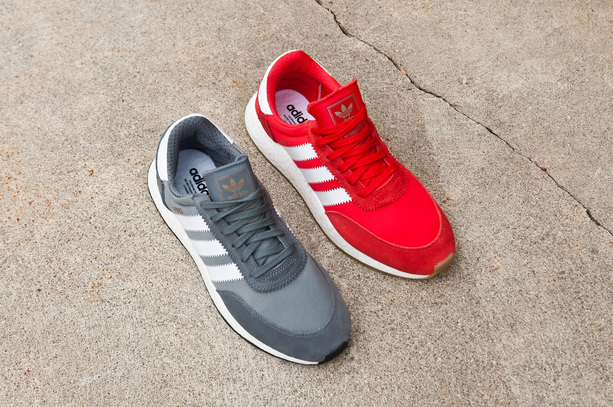 Adidas Originals Iniki Runner Red and Gray at shoplostfound 4