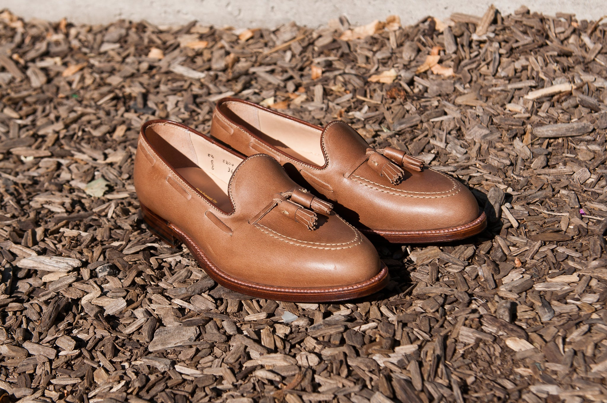 Alden Natural Chromexcel Tassel Loafer at shoplostfound 1