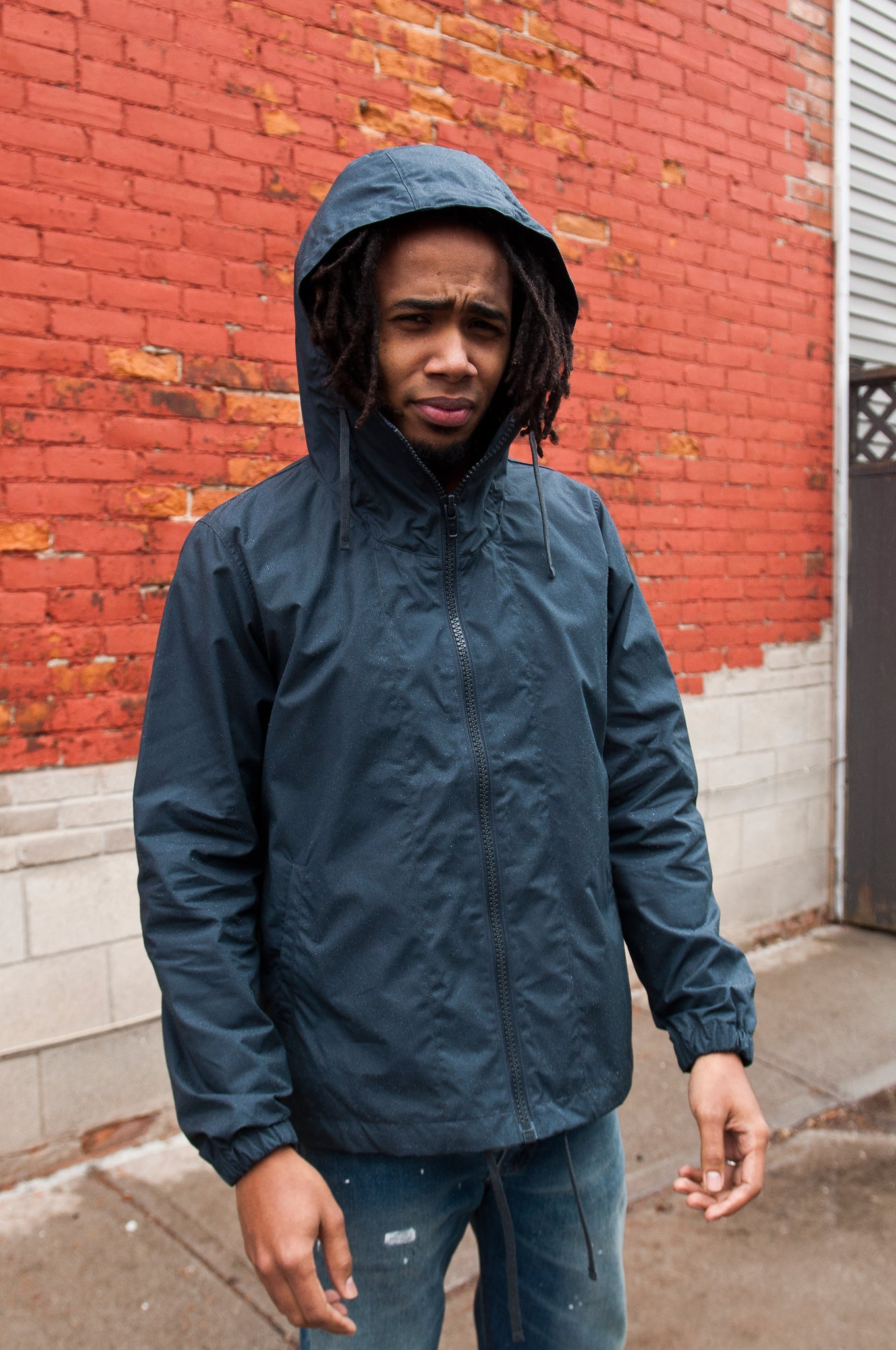 Arpenteur Kaolin Sail Cloth Parka Charcoal at shoplostfound 2