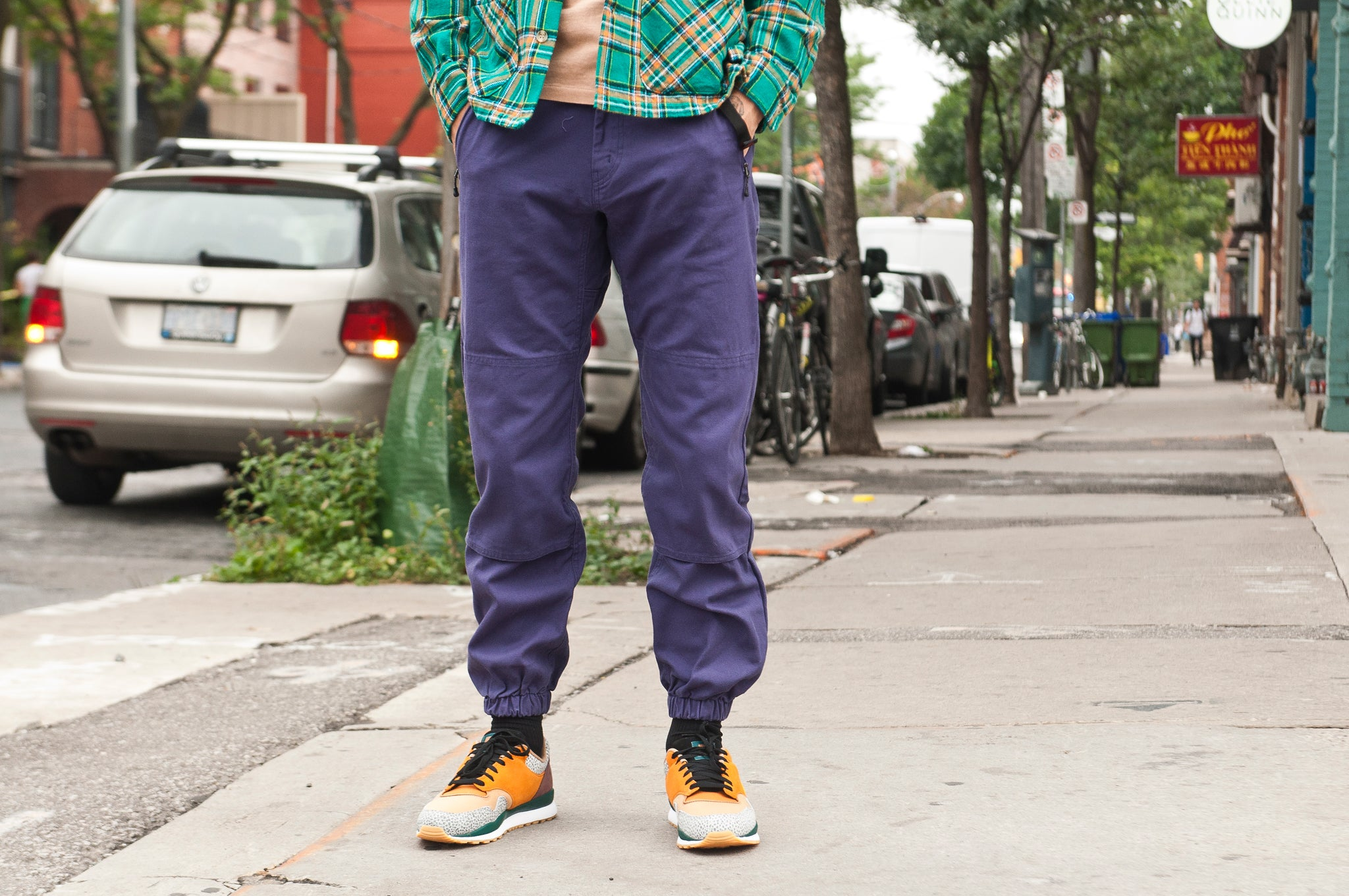 Battenwear Bouldering Pant Purple at shoplostfound 1