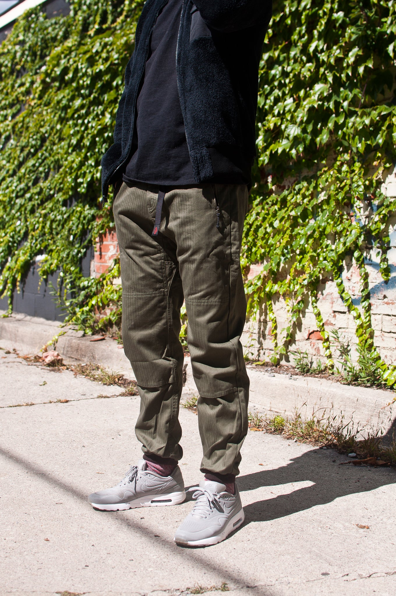Battenwear Bouldering Pant Army Green at shoplostfound, 1