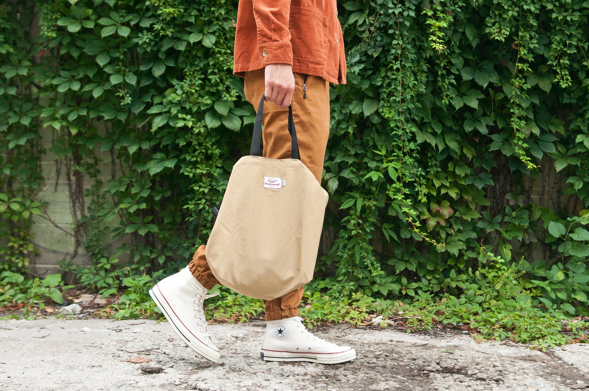 Battenwear Packable Tote Khaki at shoplostfound
