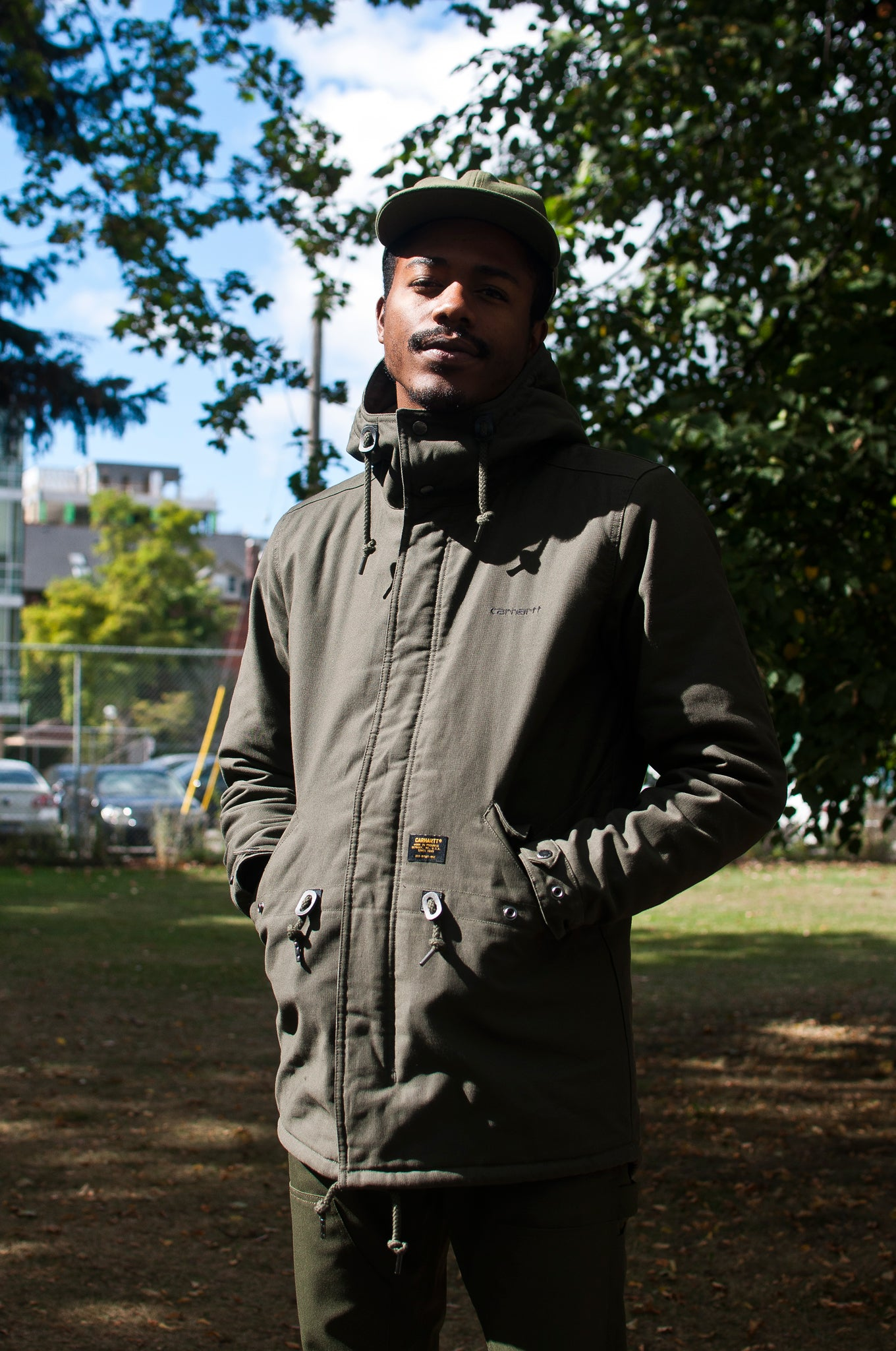 Carhartt W.I.P. Clash Parka Cypress at shoplostfound, 2