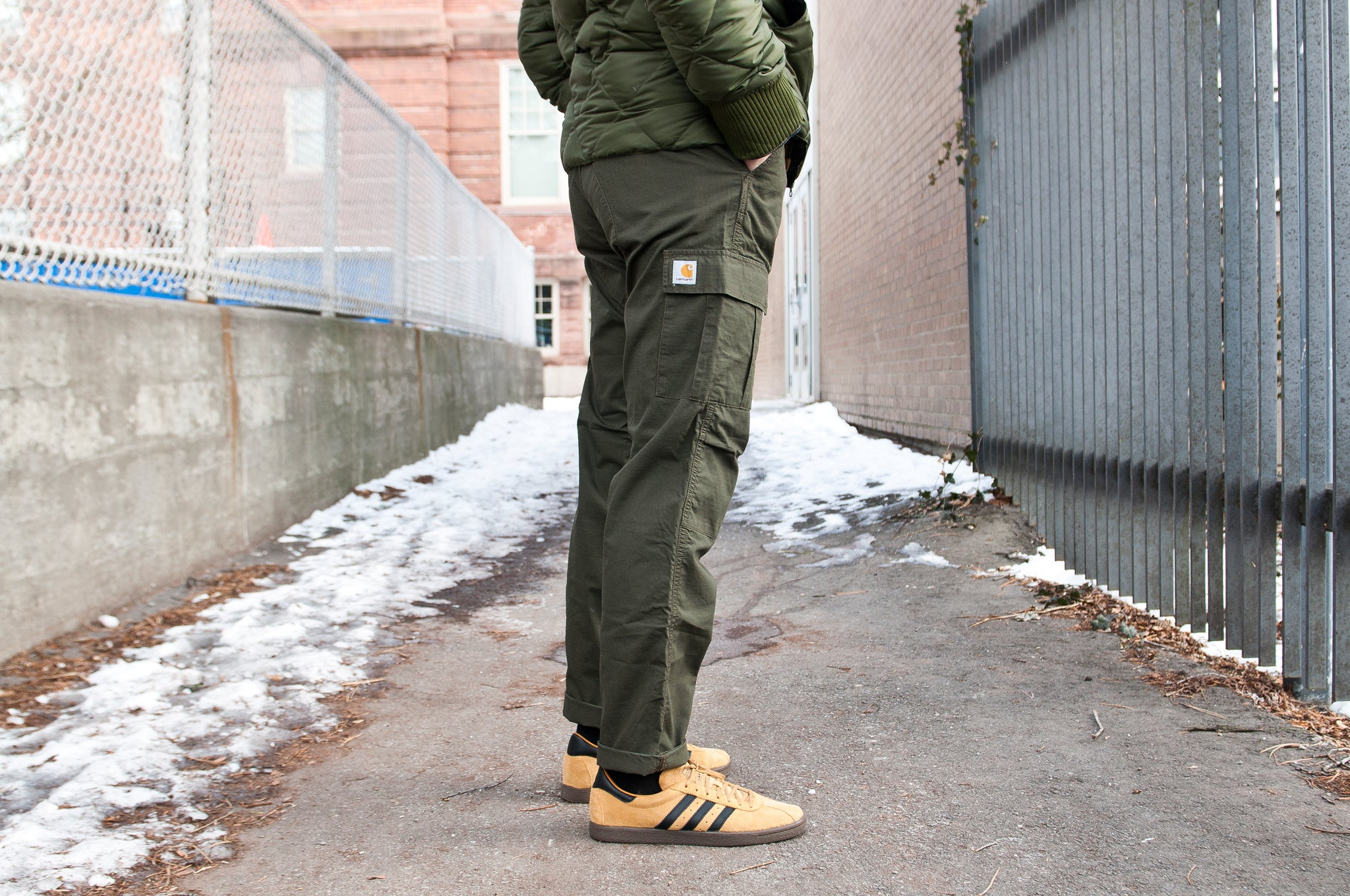 Carhartt W.I.P. Columbia Ripstop Aviation Pant Cypress at shoplostfound