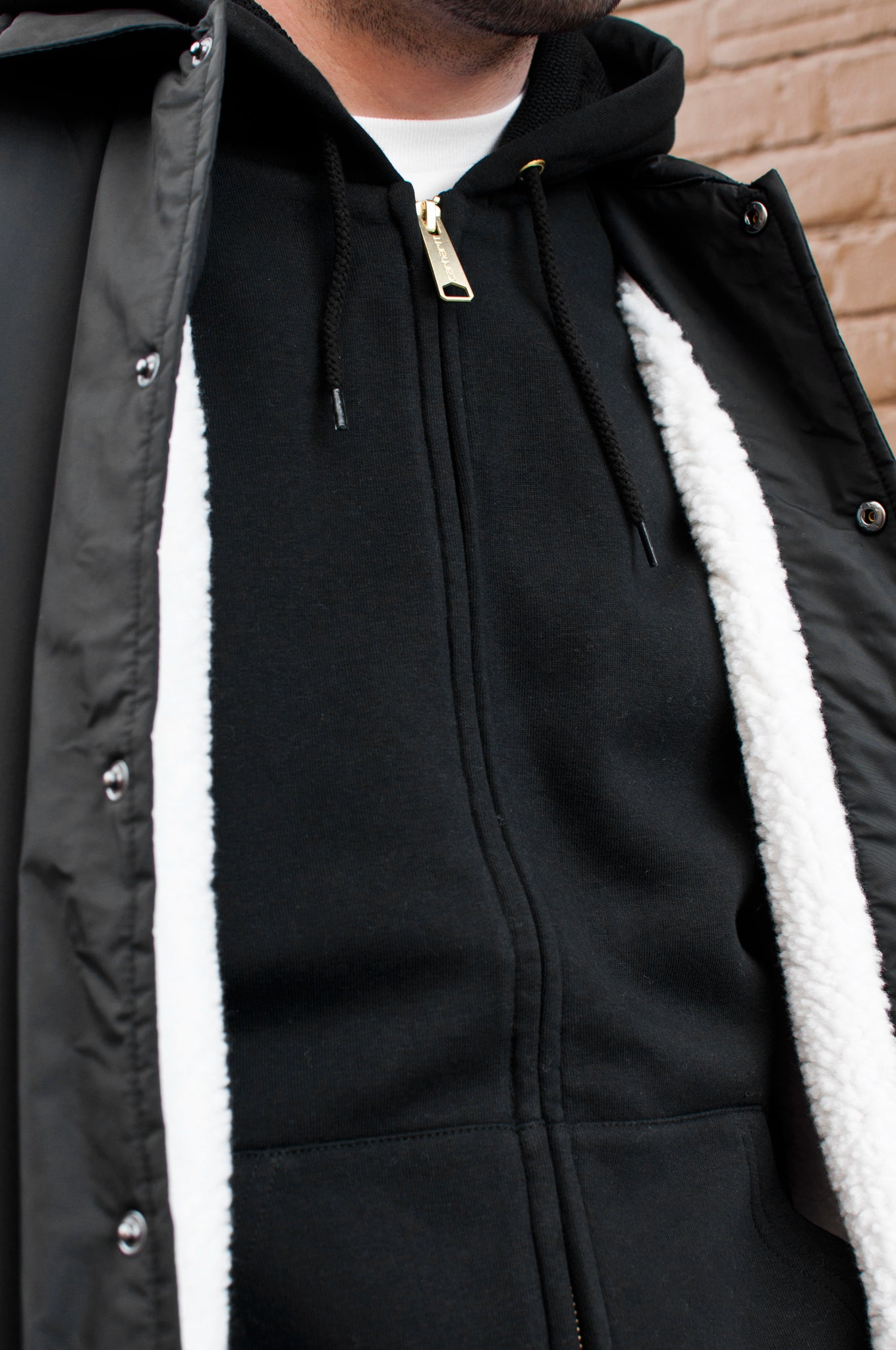 Carhartt W.I.P. Hooded Thermal Lined Jacket Black at shoplostfound