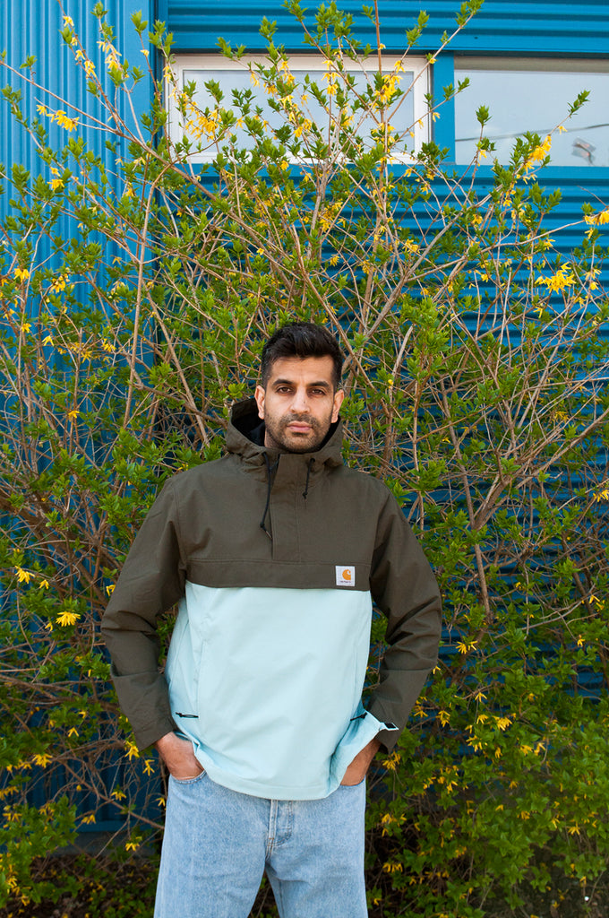 Carhartt W.I.P. Nimbus Two Tone Pullover Cypress/Soft Aloe at shoplostfound 1