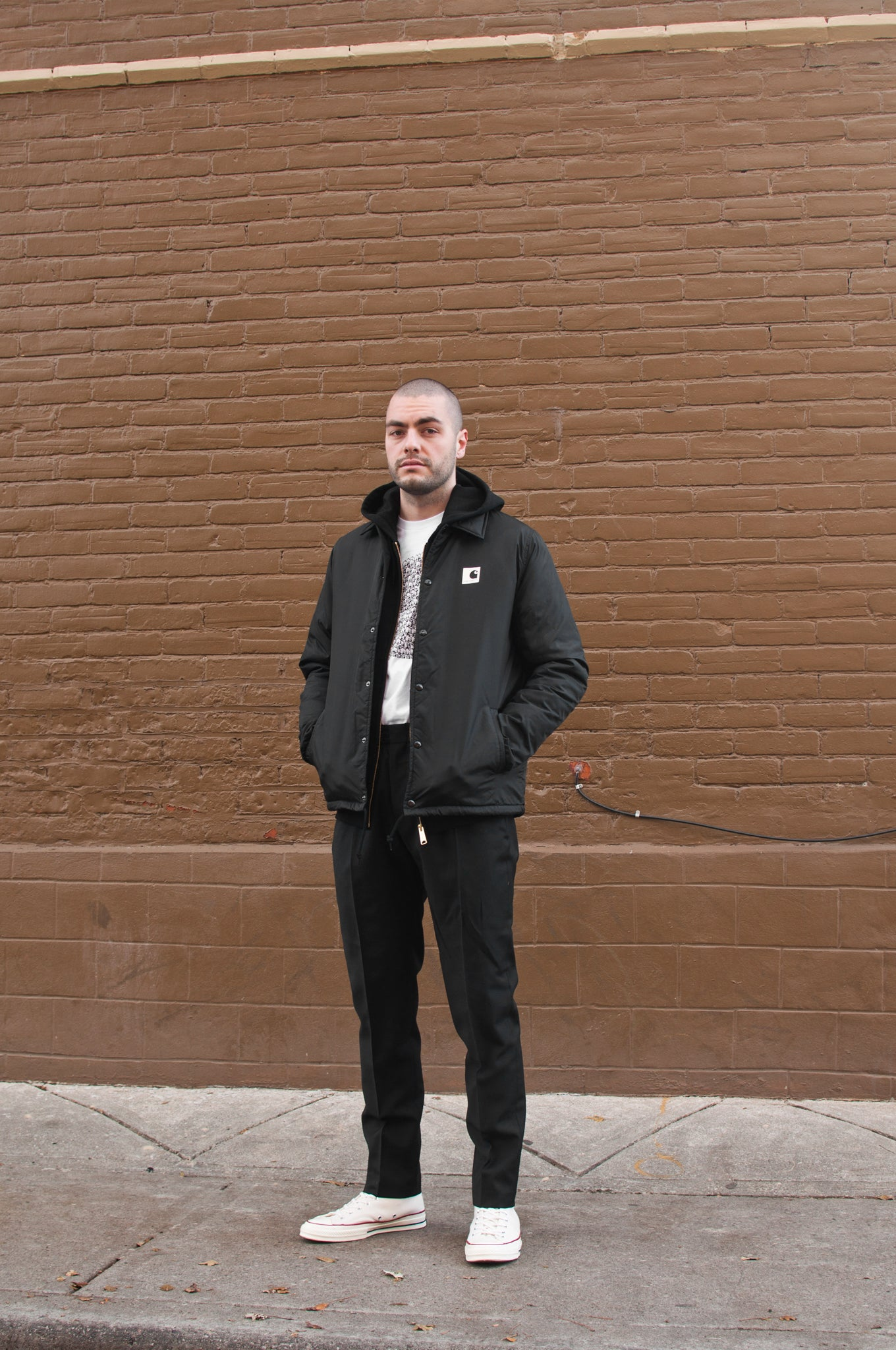 Carhartt W.I.P. Sports Pile Coach Jacket Black at shoplostfound 1