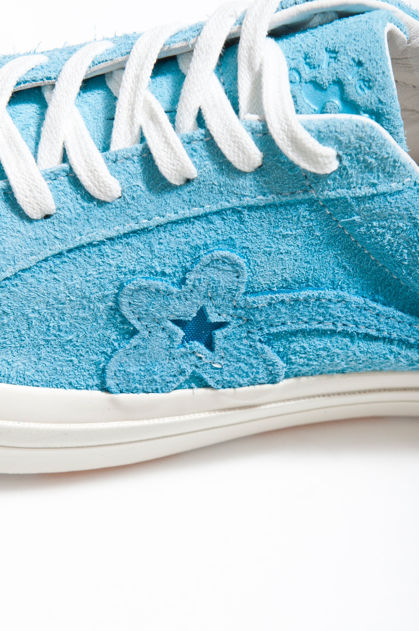 Golf le Fleur x Converse One Star at shoplostfound California Blue Logo