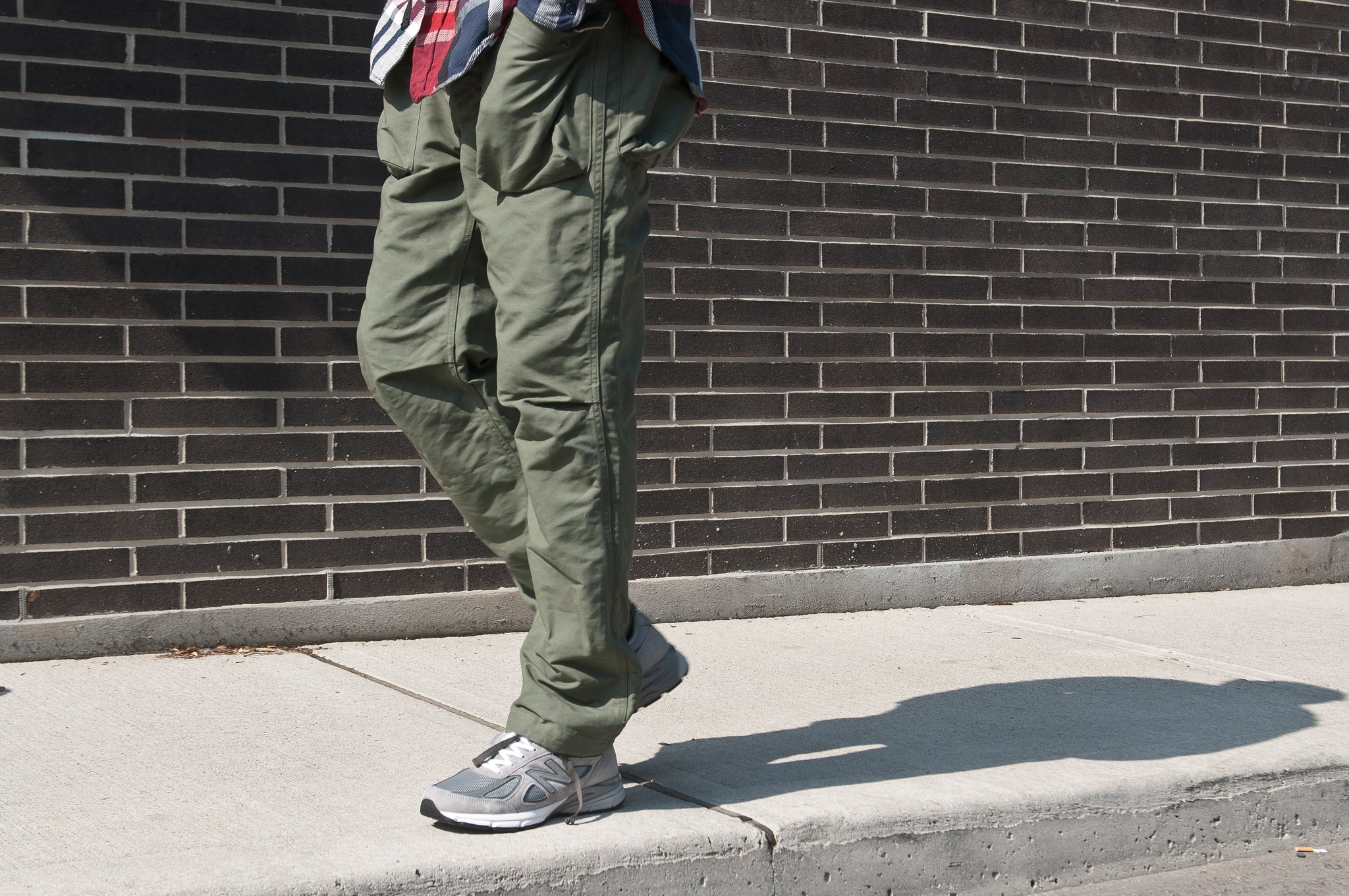 Engineered Garments Cotton Double Cloth Norwegian Pant Olive at shoplostfound