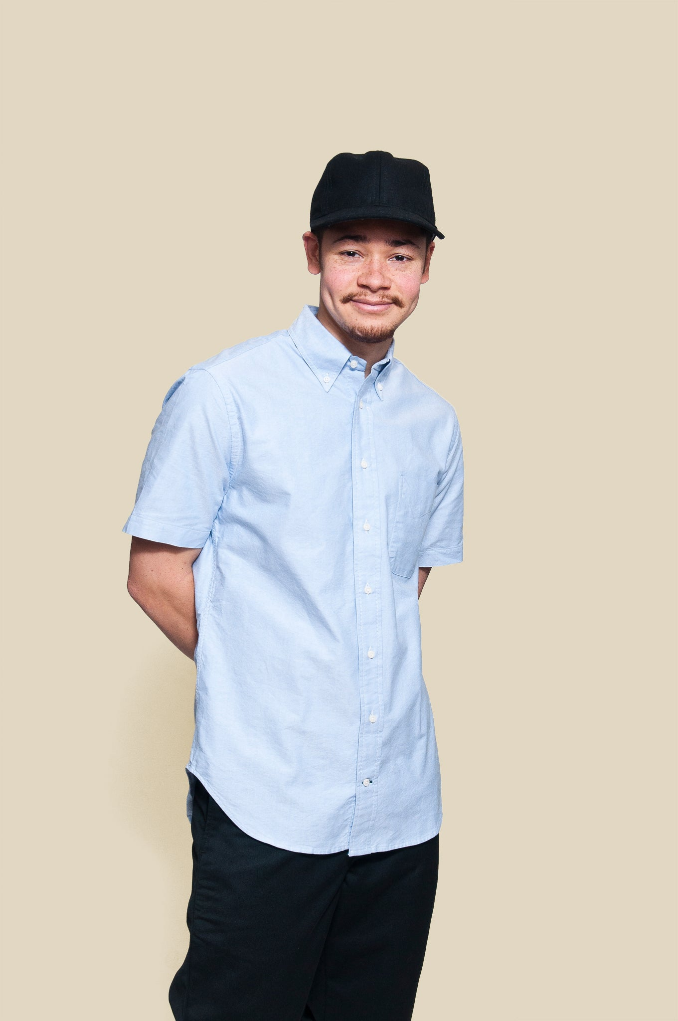 Gitman Vintage Bros. Blue Oxford SS Shirt at shoplostfound