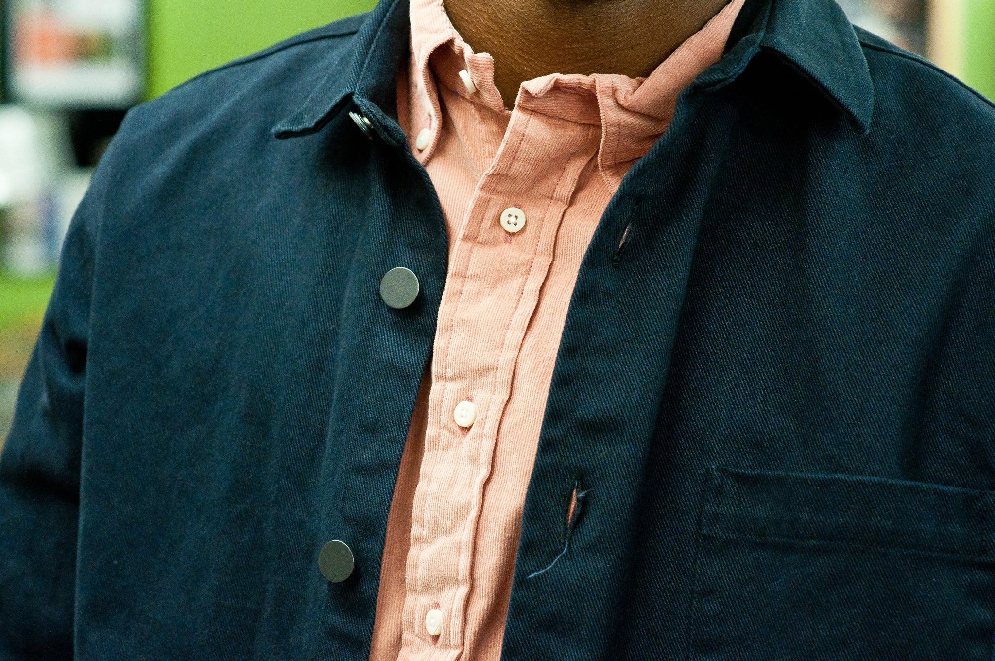 Gitman Vintage Bros. Pink Corduroy at shoplostfound