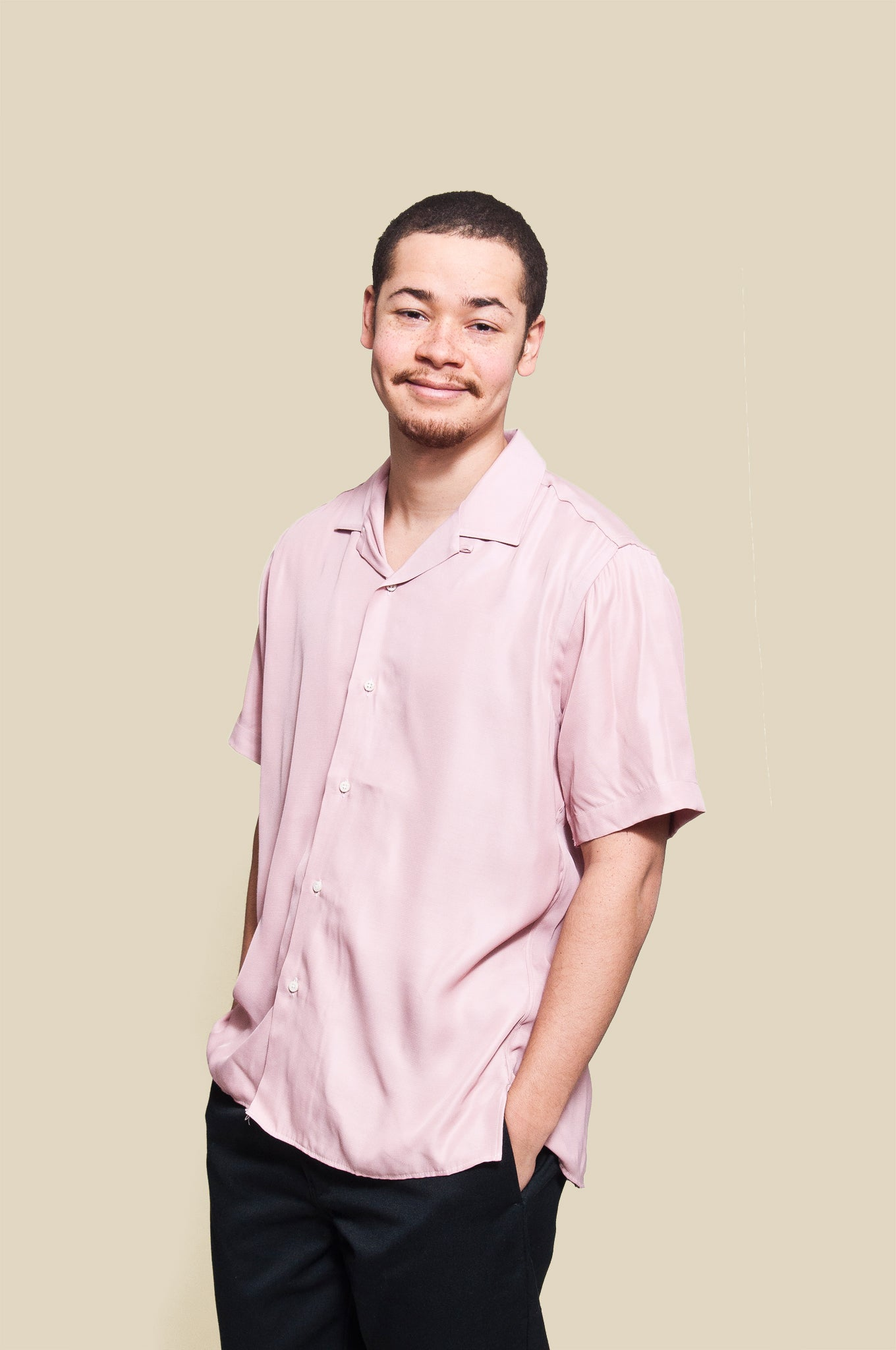 Gitman Vintage Bros. Pink Rayon Camp Shirt at shoplostfound