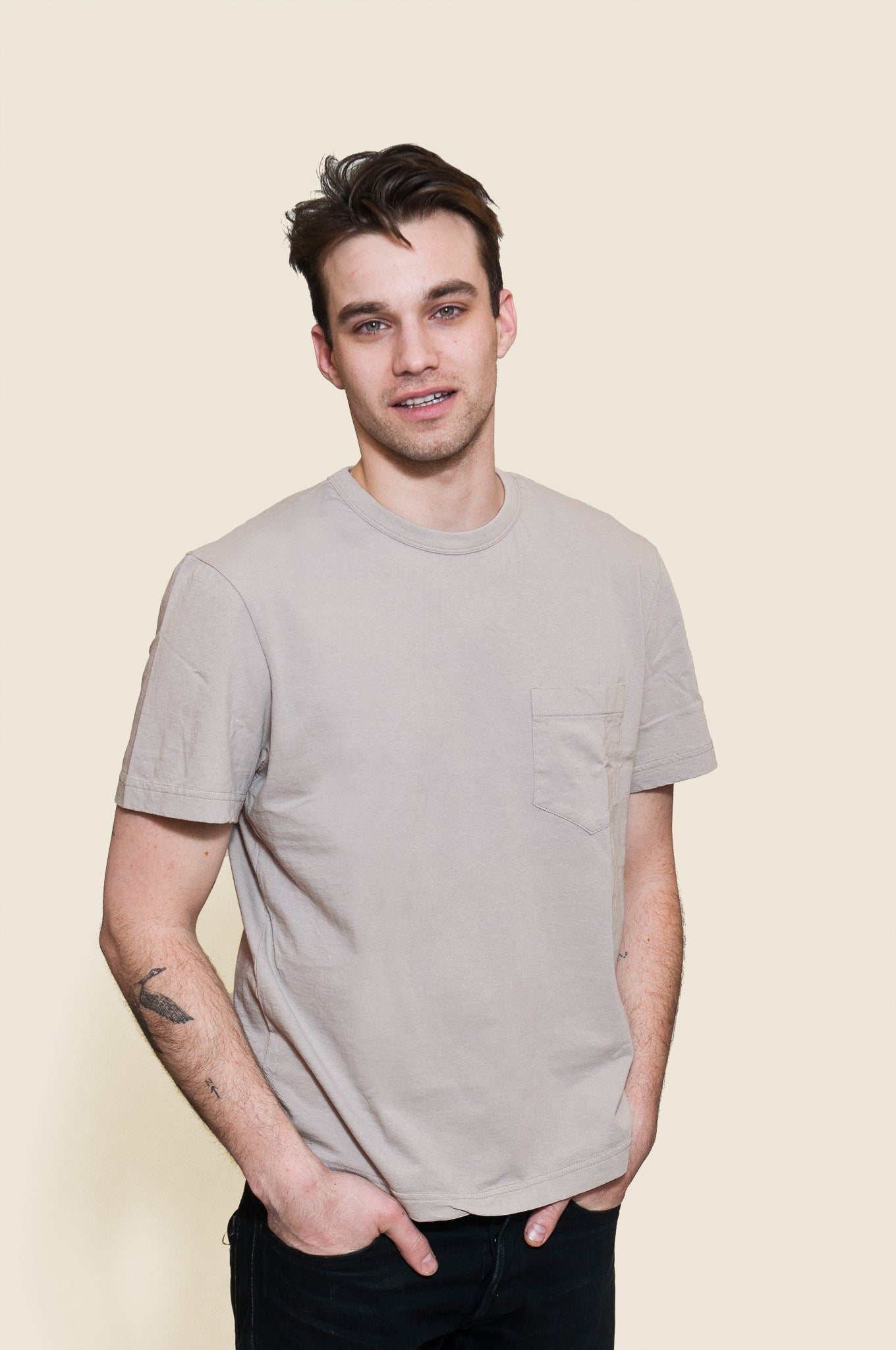 Homespun Dad's Pocket Tee Steel Grey at shoplostfound