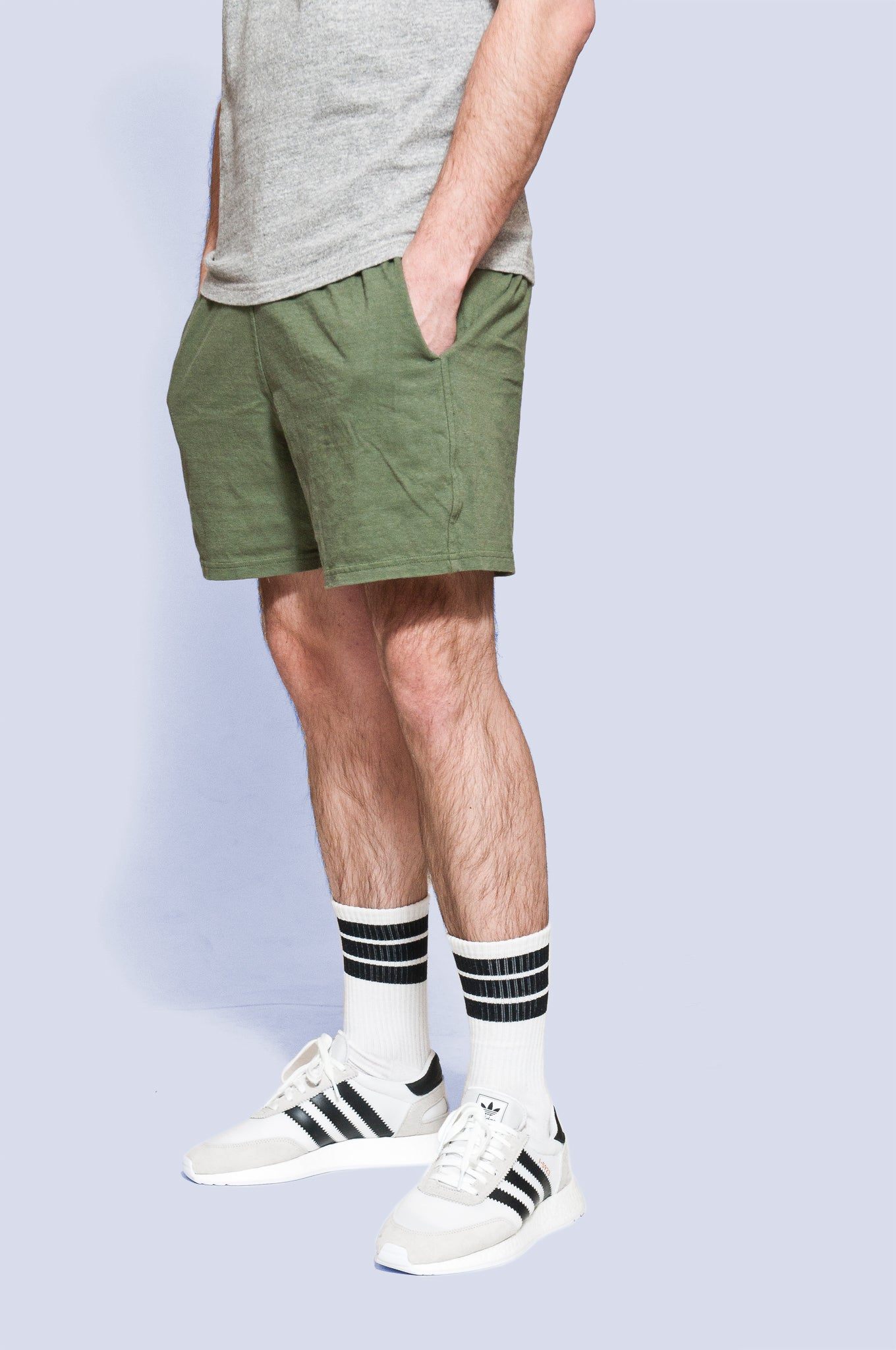 National Athletic Goods Track Short Army Green at shoplostfound