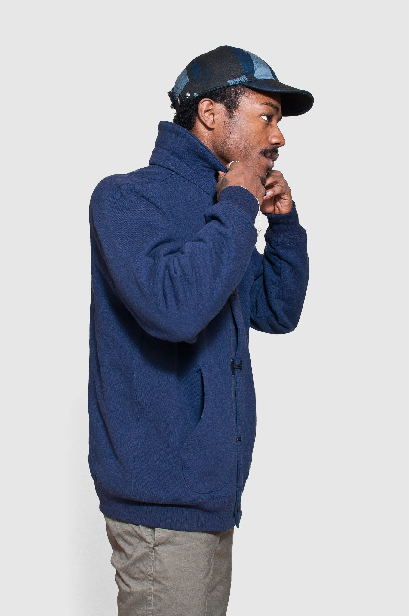Nigel Cabourn US Clip Jacket Navy at shoplostfound