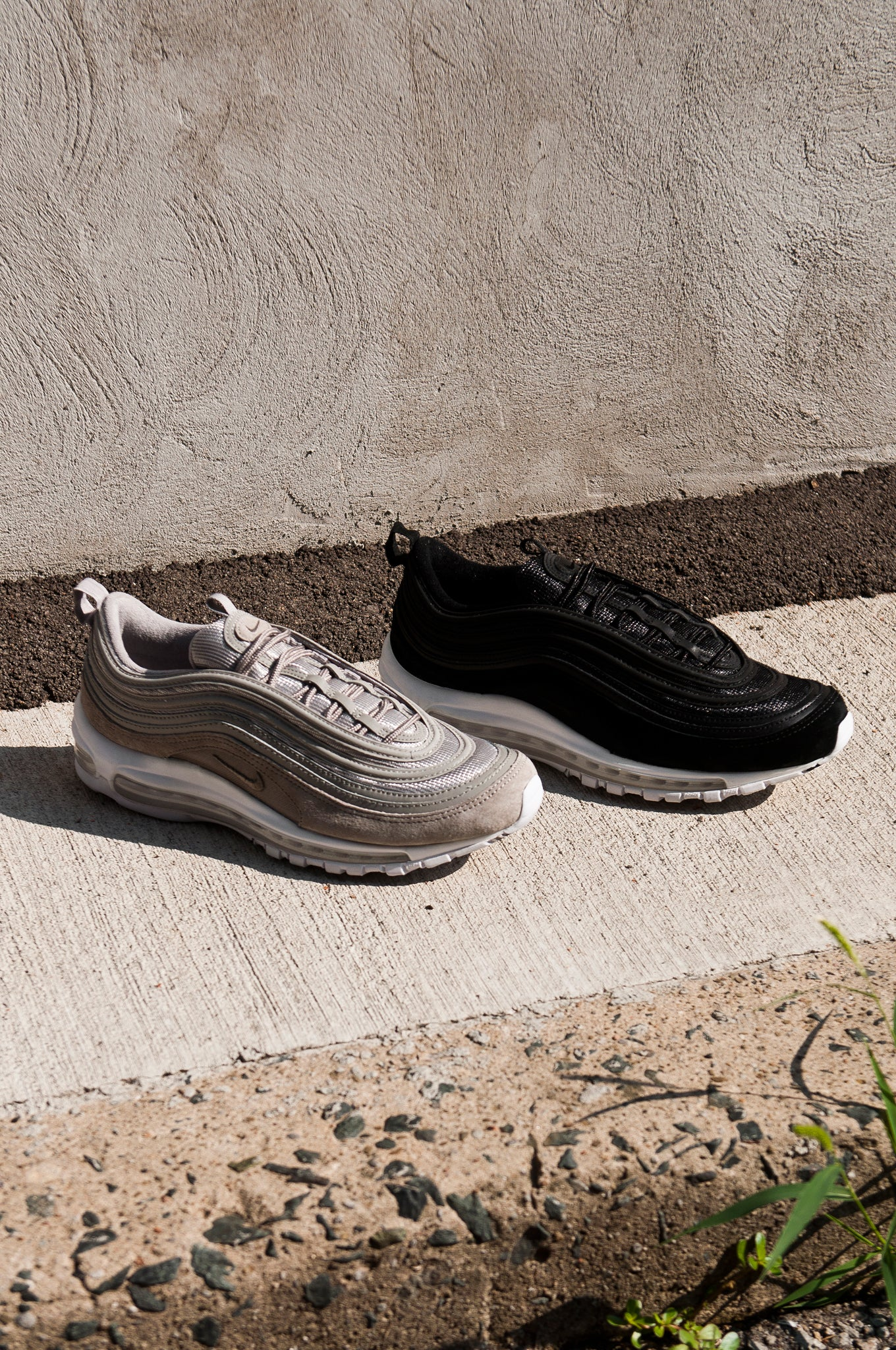 Nike Air Max 97 Black and Cobblestone 921826-003 -921826-002-