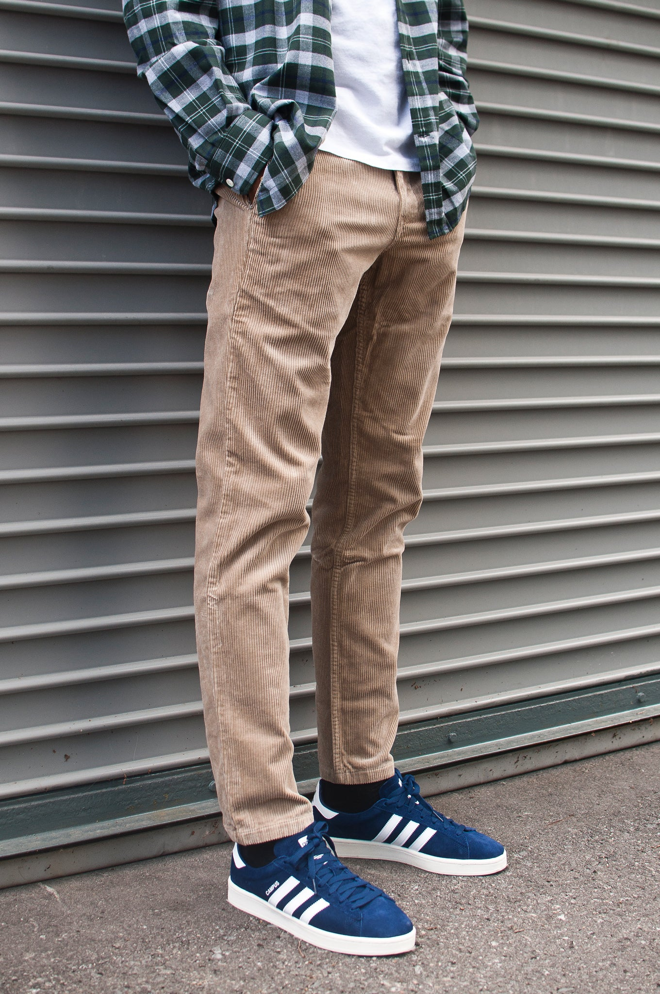 Norse Projects Aros Corduroy Khaki at shoplostfound