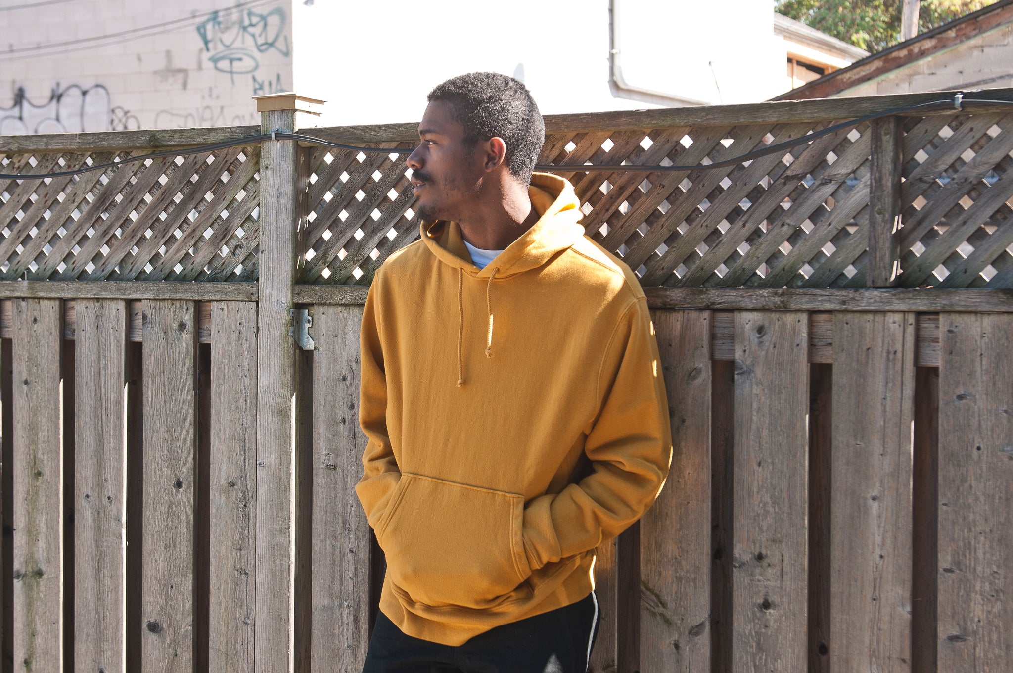 PAA Hooded Pullover Mustard at shoplostfound 1