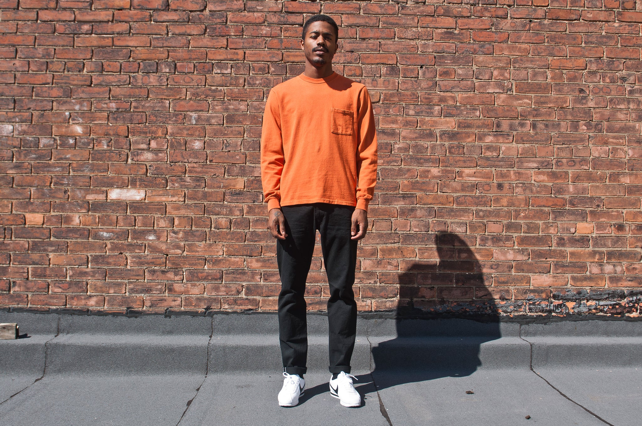 PAA Long Sleeve Pocket Tee Autumn Orange at shoplostfound 1