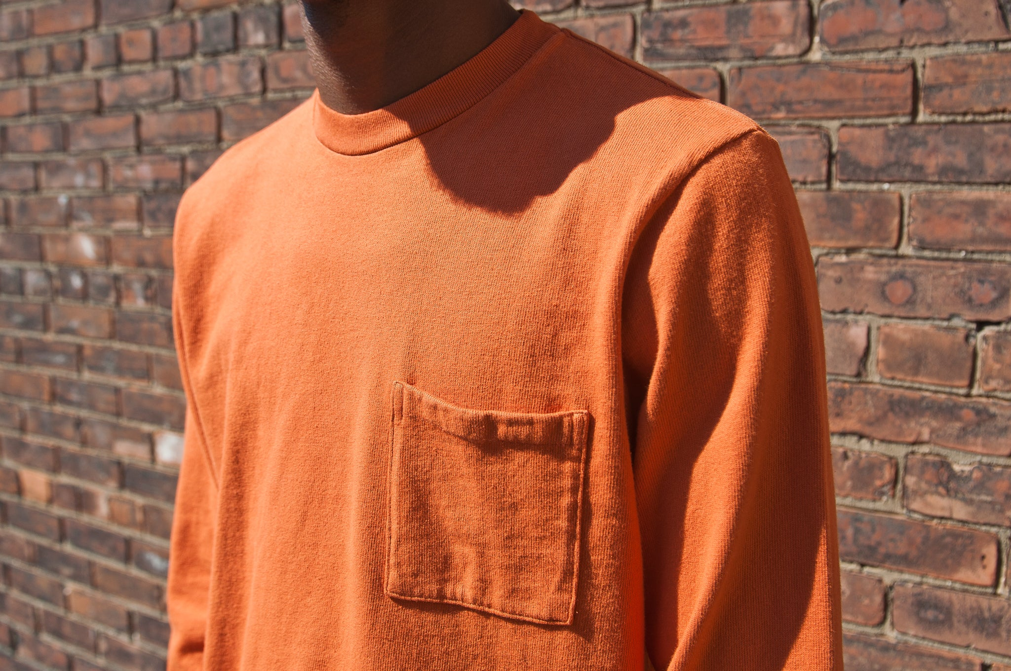 PAA Long Sleeve Pocket Tee Autumn Orange at shoplostfound 2