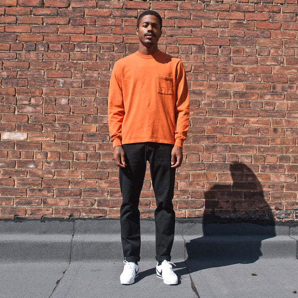 PAA Long Sleeve Pocket Autumn Orange at shoplostfound Preview