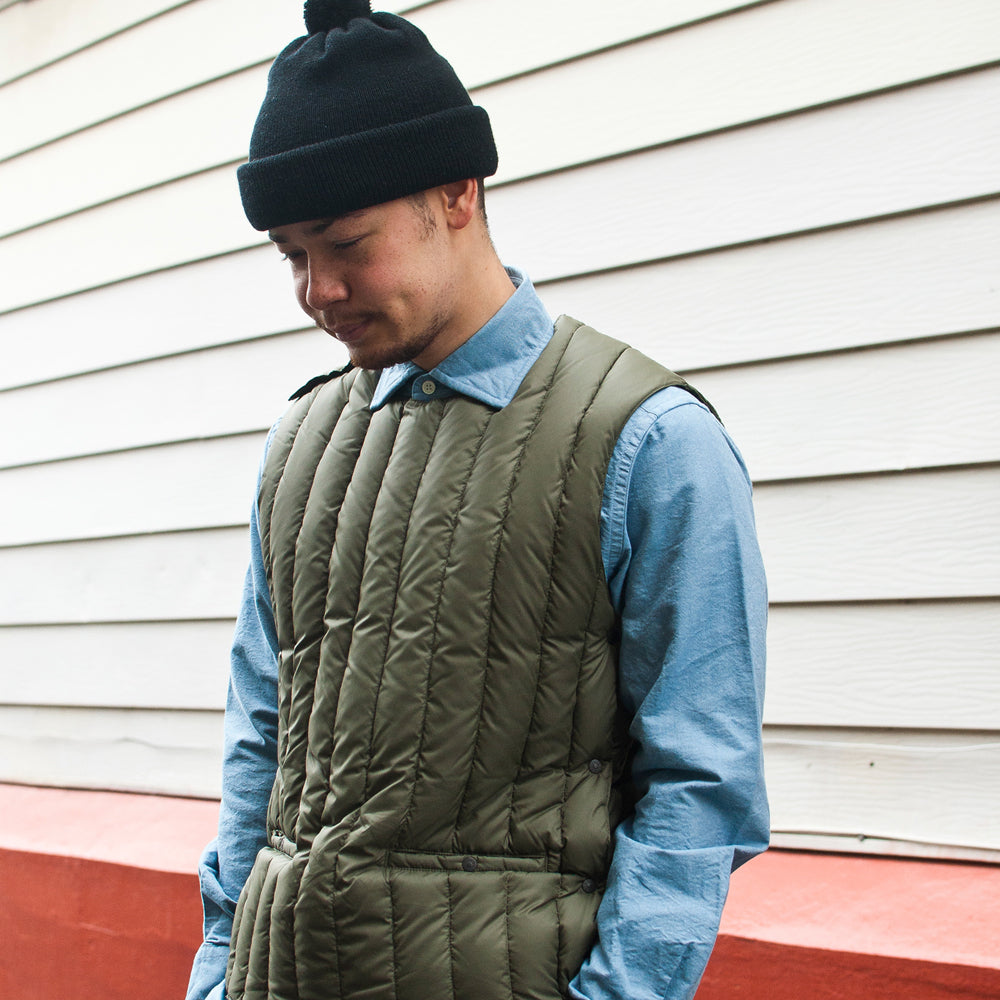 Rocky Mountain Featherbed Six Month Pullover Vest in Olive at shoplostfound Preview