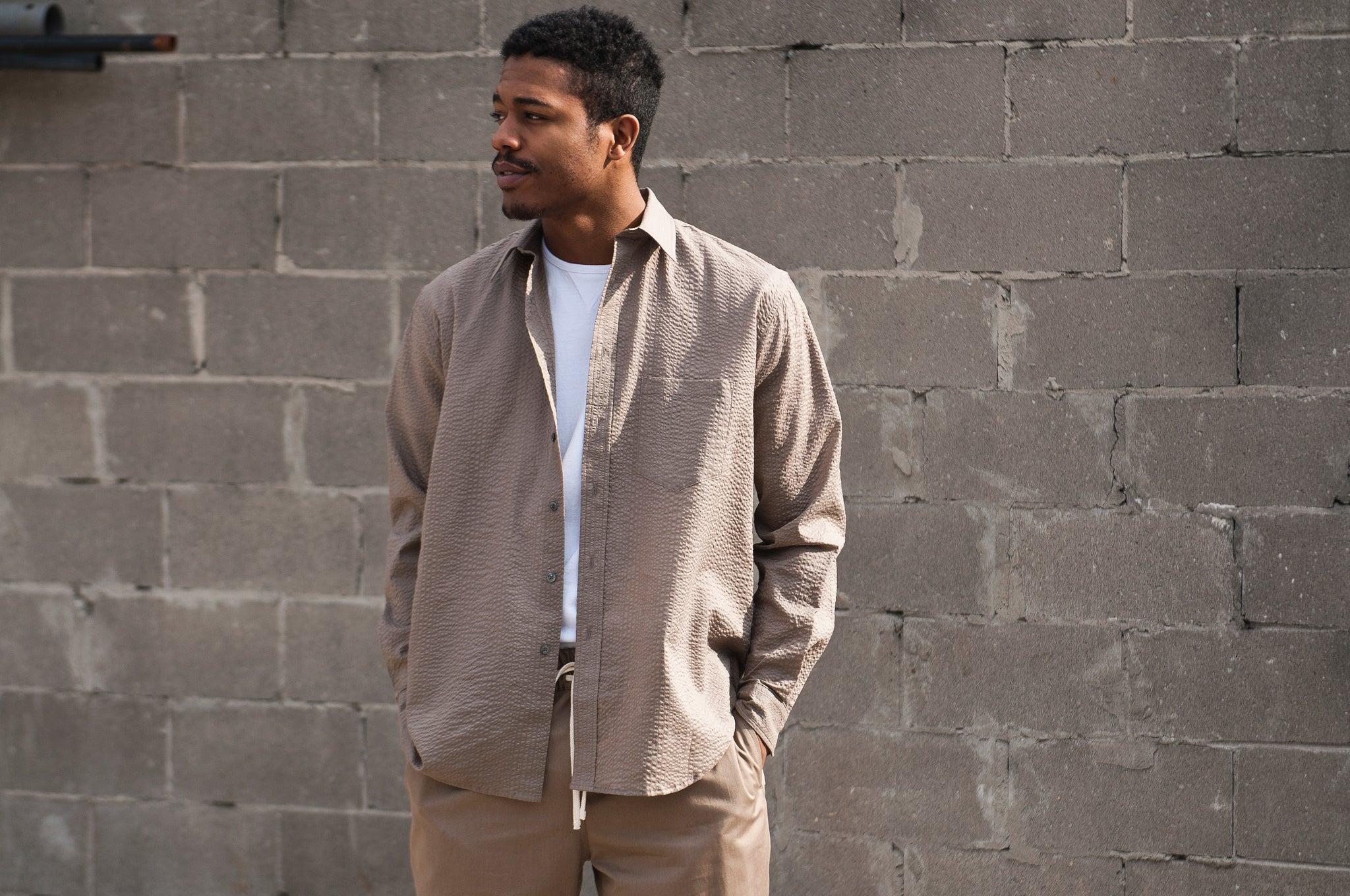S.K. Manor Hill Egon Shirt Grey Lawn at shoplostfound 1