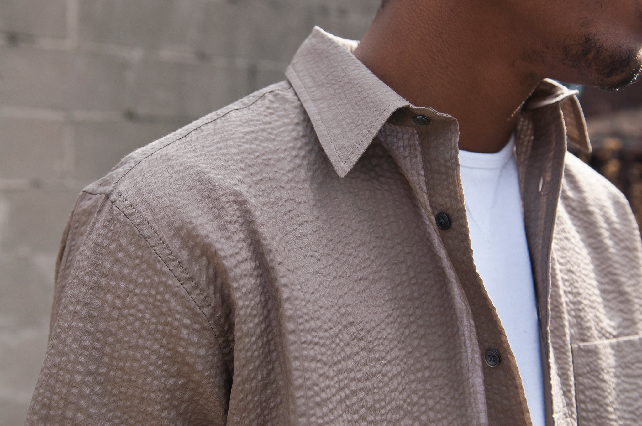 S.K. Manor Hill Egon Shirt Grey Lawn at shoplostfound 2
