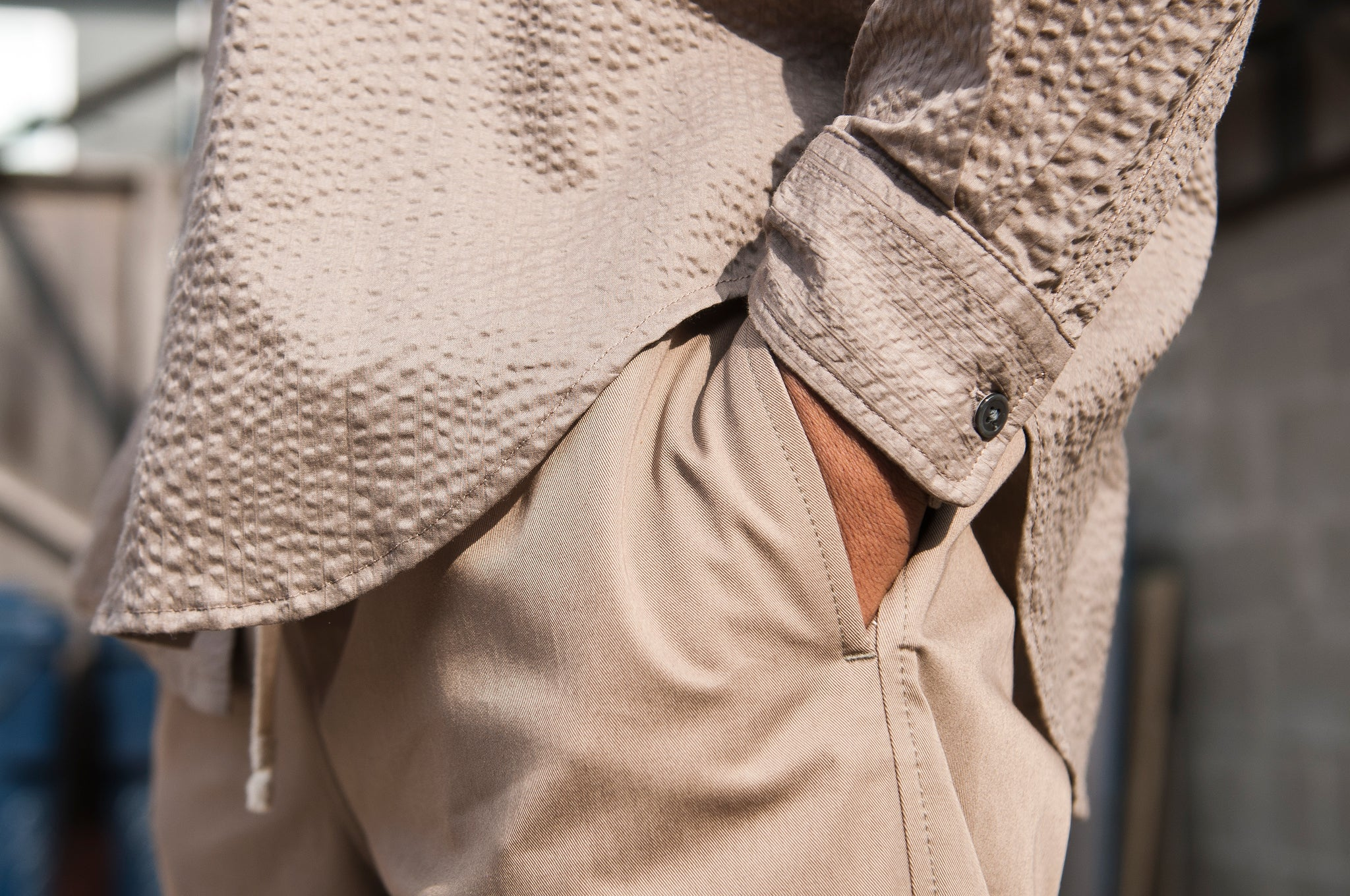 S.K. Manor Hill Egon Shirt Grey Lawn at shoplostfound 3