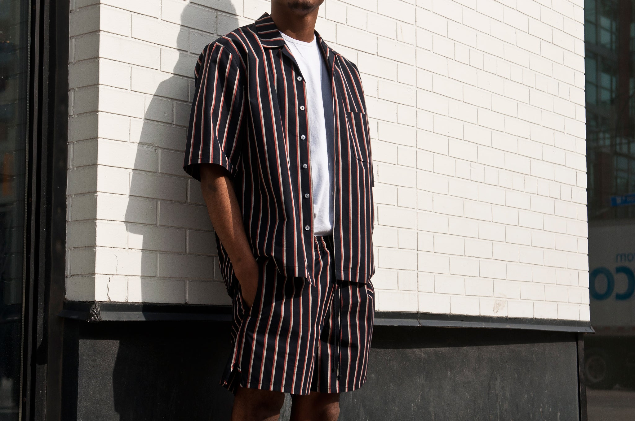 S.K. Manor Hill N/O Aloha Shirt Orange/Navy at shoplostfound 1