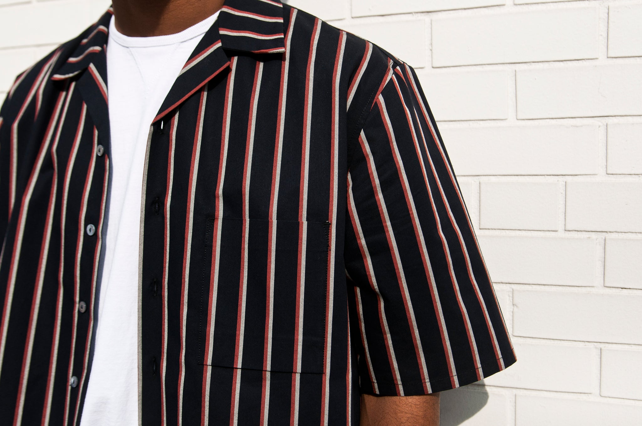 S.K. Manor Hill N/O Aloha Shirt Orange/Navy at shoplostfound 2