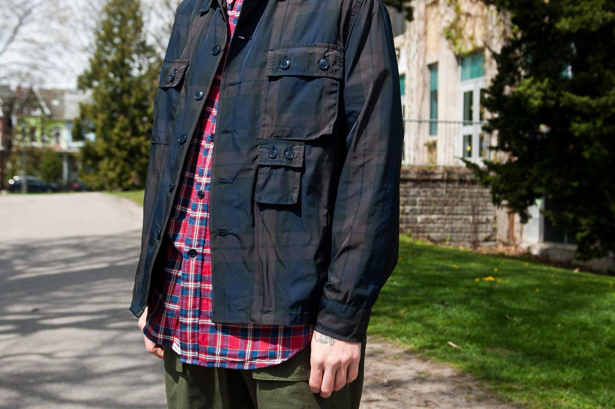 Sassafras G.D.U. Jacket Check Memory Twill at shoplostfound