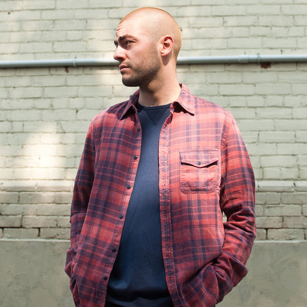 Save Khaki United Plaid Flannel Work Shirt Rhubarb at shoplostfound