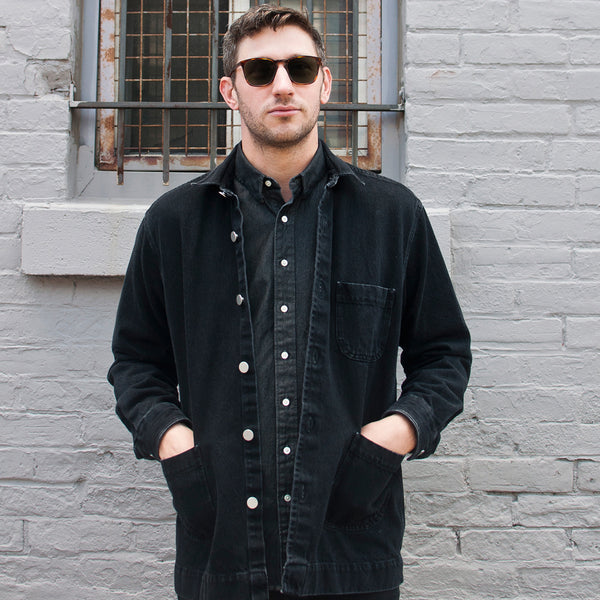 Schnayderman's Overshirt Denim One Washed Black at shoplostfound Preview