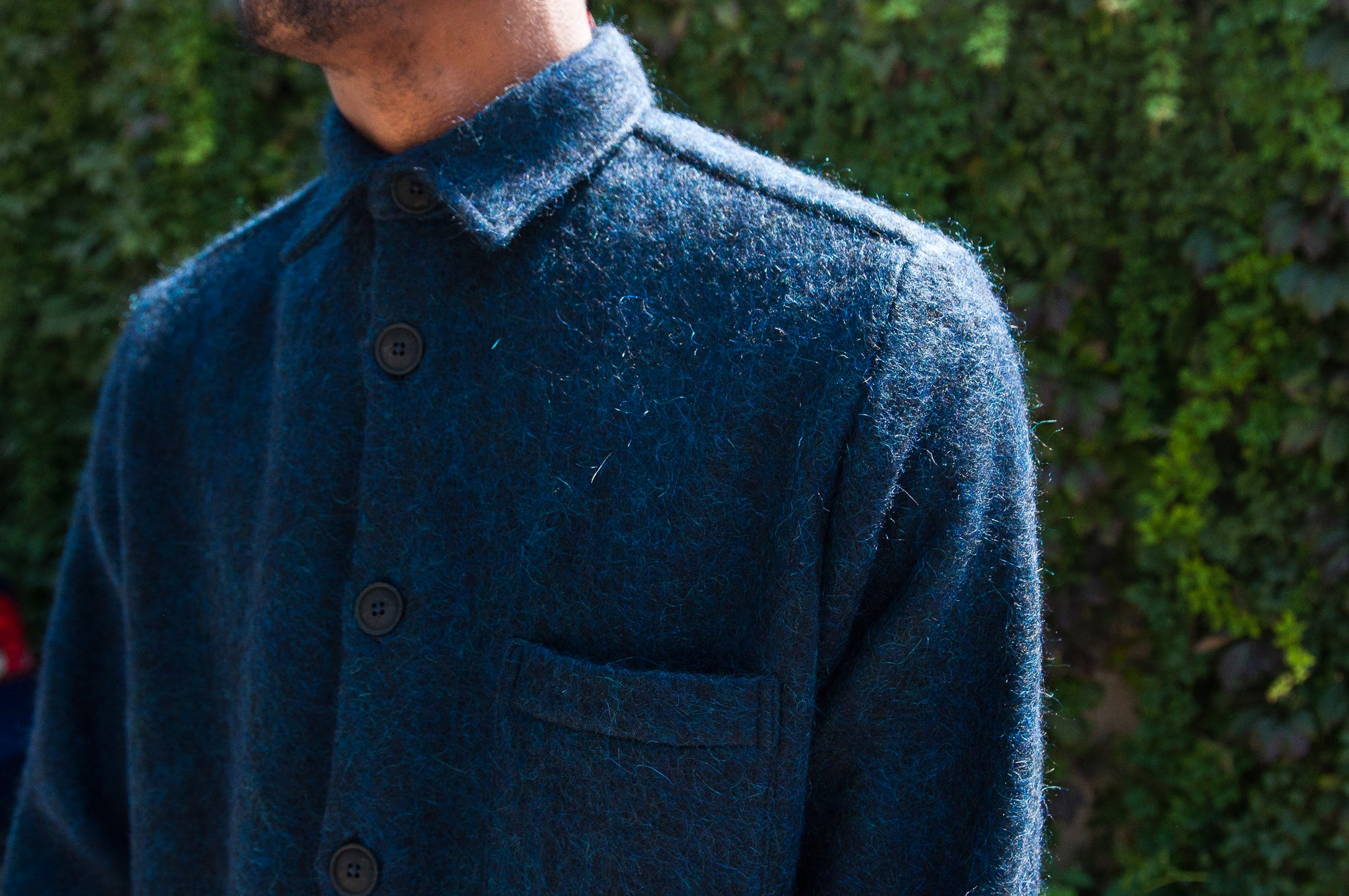 Schnayderman's Overshirt Mohair One Blue at shoplostfound 2