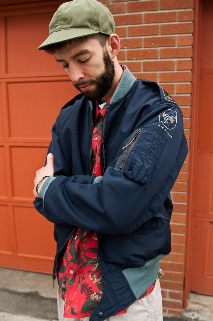 The Real McCoy's L-2A Test Sample Flight Jacket Navy at shoplostfound 3
