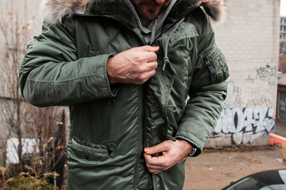 The Real McCoy's N-3B MFG Co. Flight Jacket Olive at shoplostfound 2