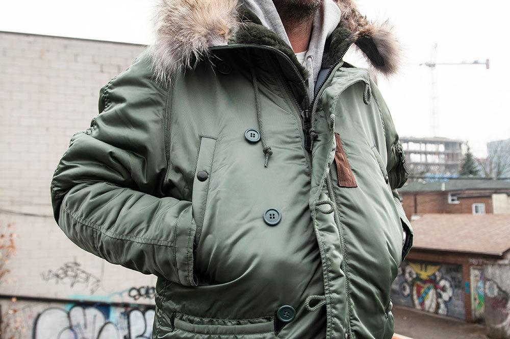 The Real McCoy's N-3B MFG Co. Flight Jacket Olive at shoplostfound 4