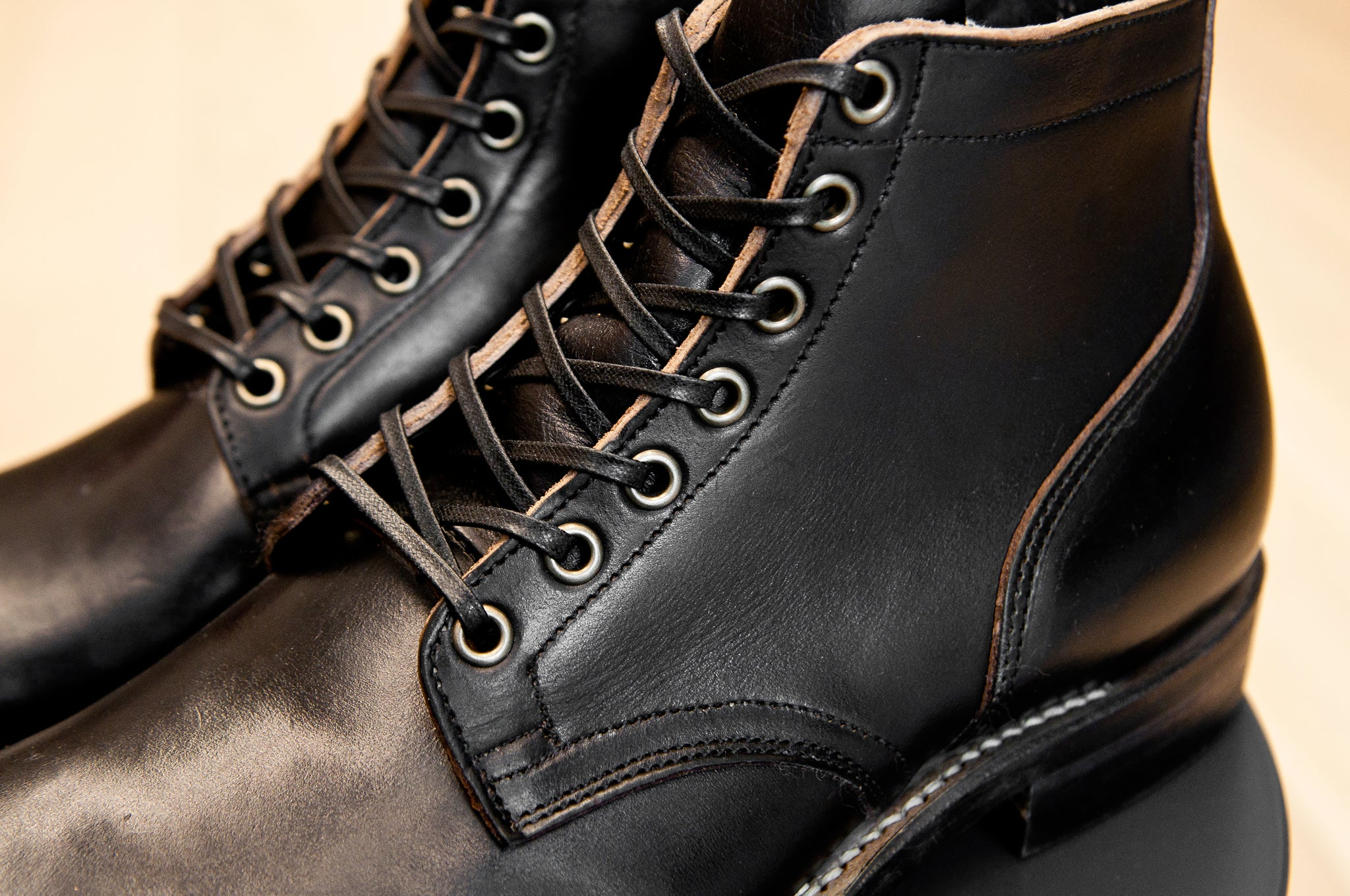 Viberg Black Chromexcel Service Boot at shoplosfound 2