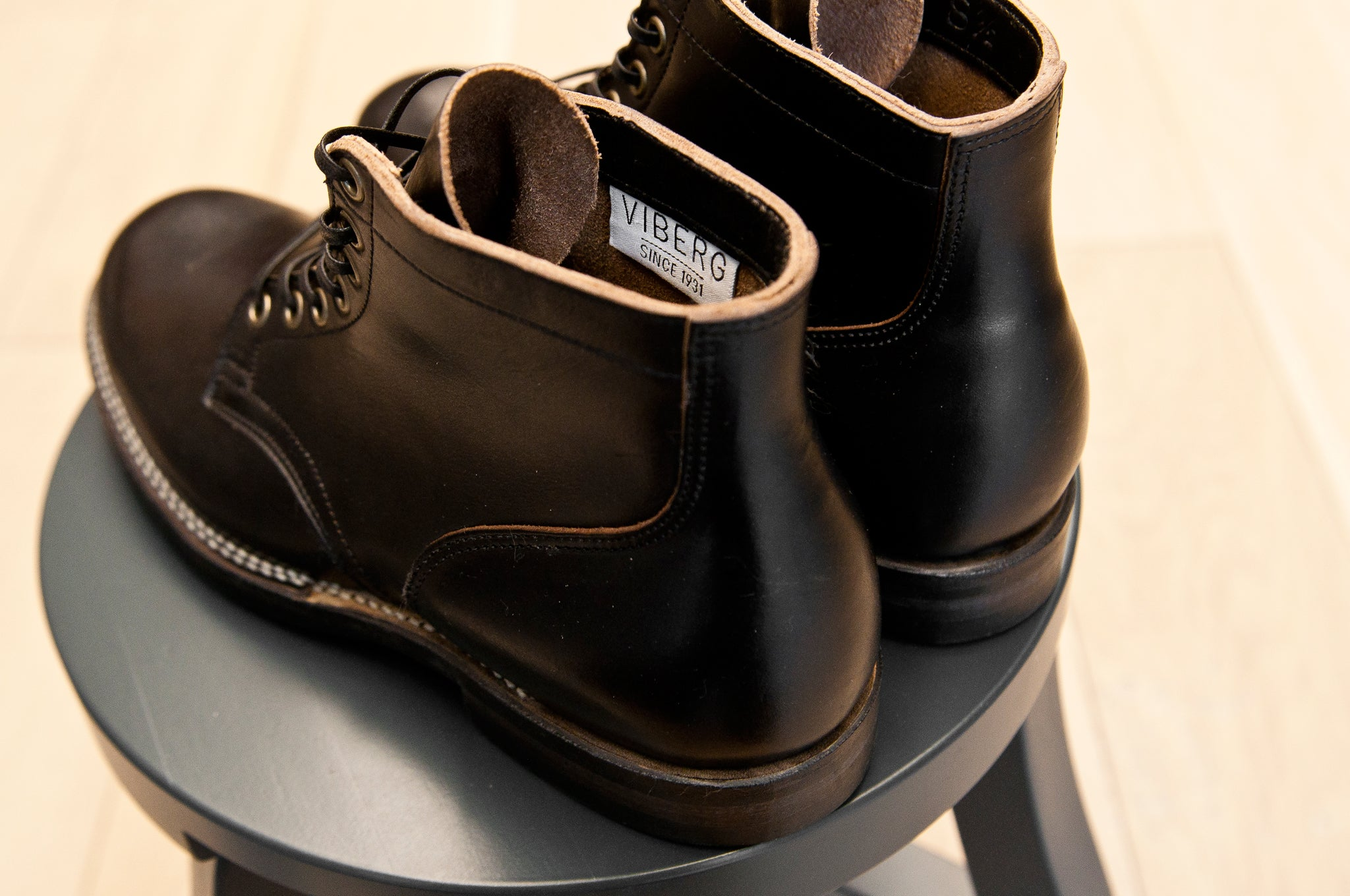 Viberg Black Chromexcel Service Boot at shoplosfound 4