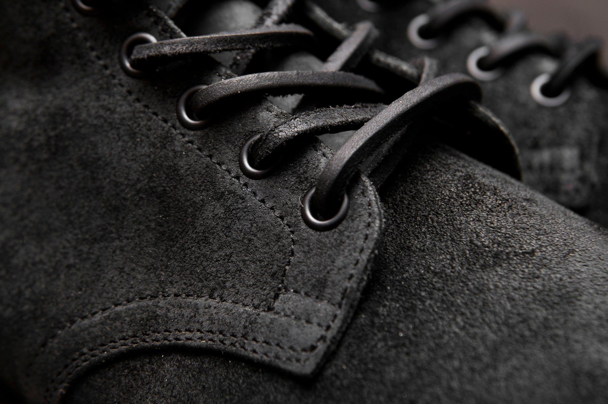 Viberg Charcoal Chamois Roughout Service Boot at shoplostfound 3