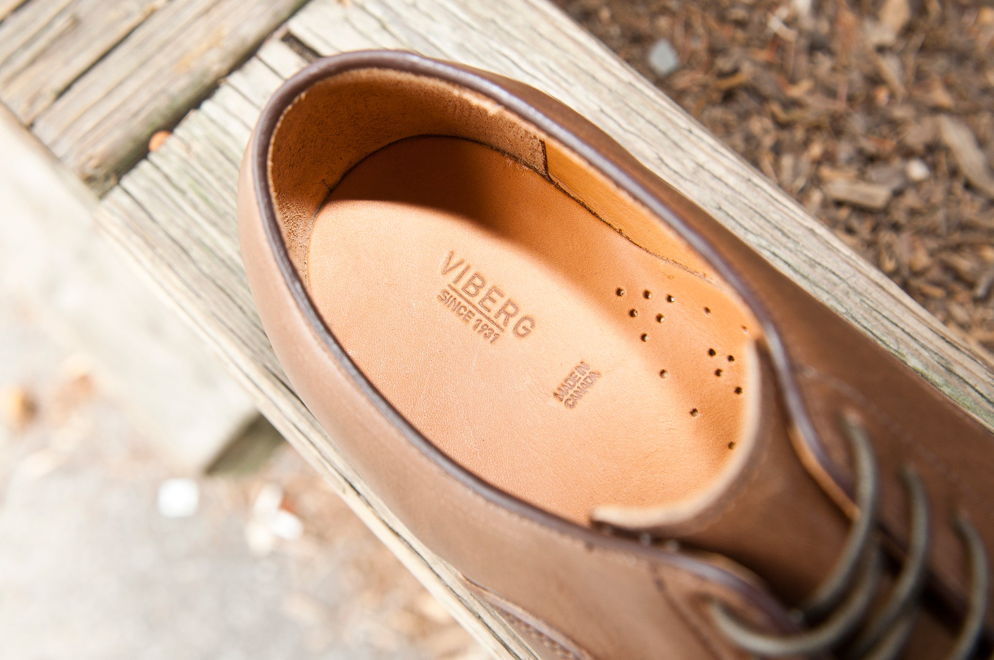 Viberg Natural Chromexcel Derby Shoe at shoplostfound 2