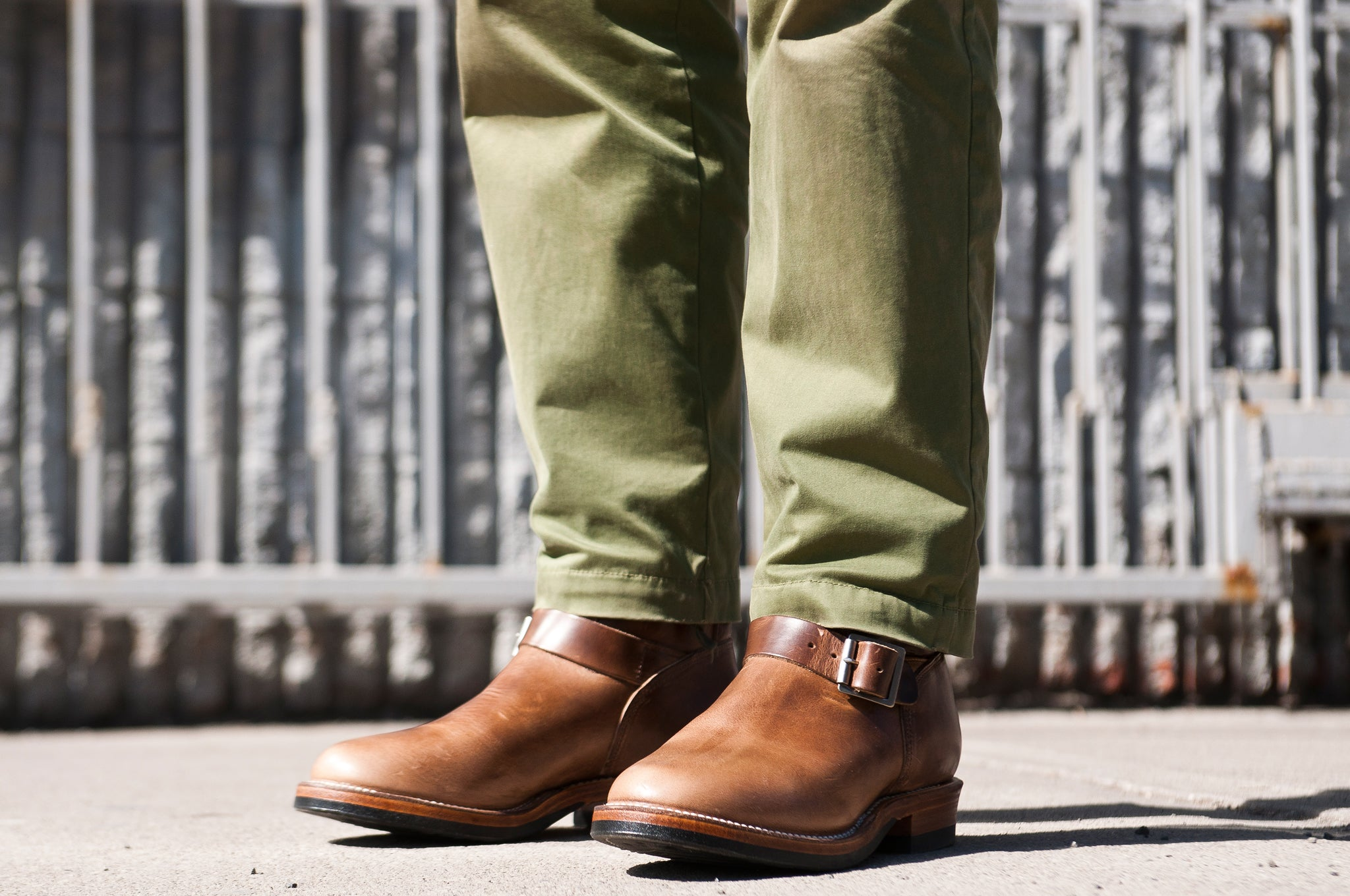 Viberg Natural Chromexcel Engineer Boot at shoplostfound 1
