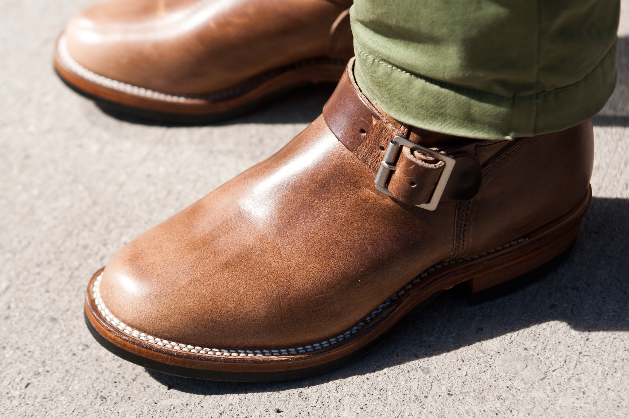 Viberg Natural Chromexcel Engineer Boot at shoplostfound 2