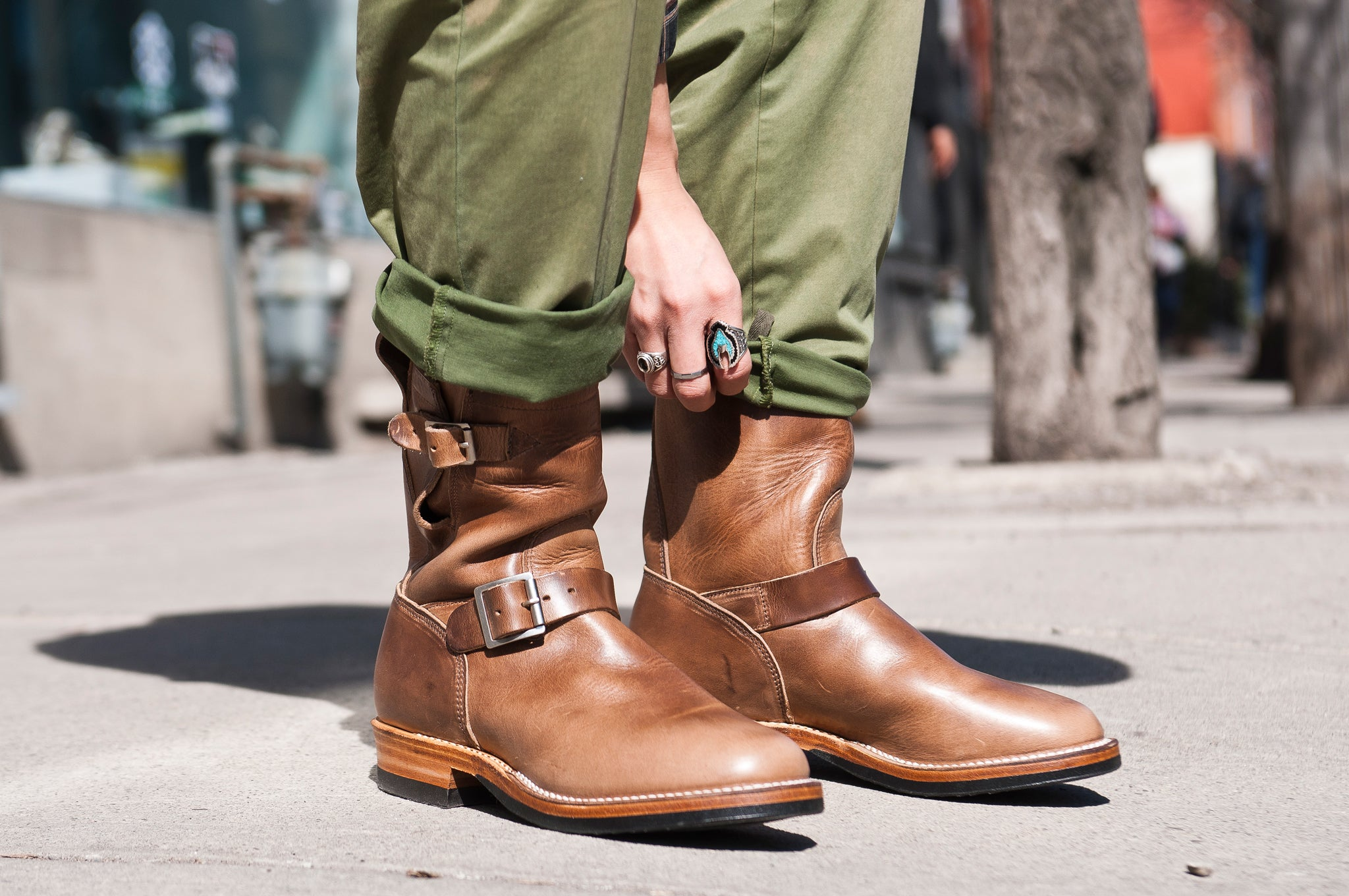 Viberg Natural Chromexcel Engineer Boot at shoplostfound 4