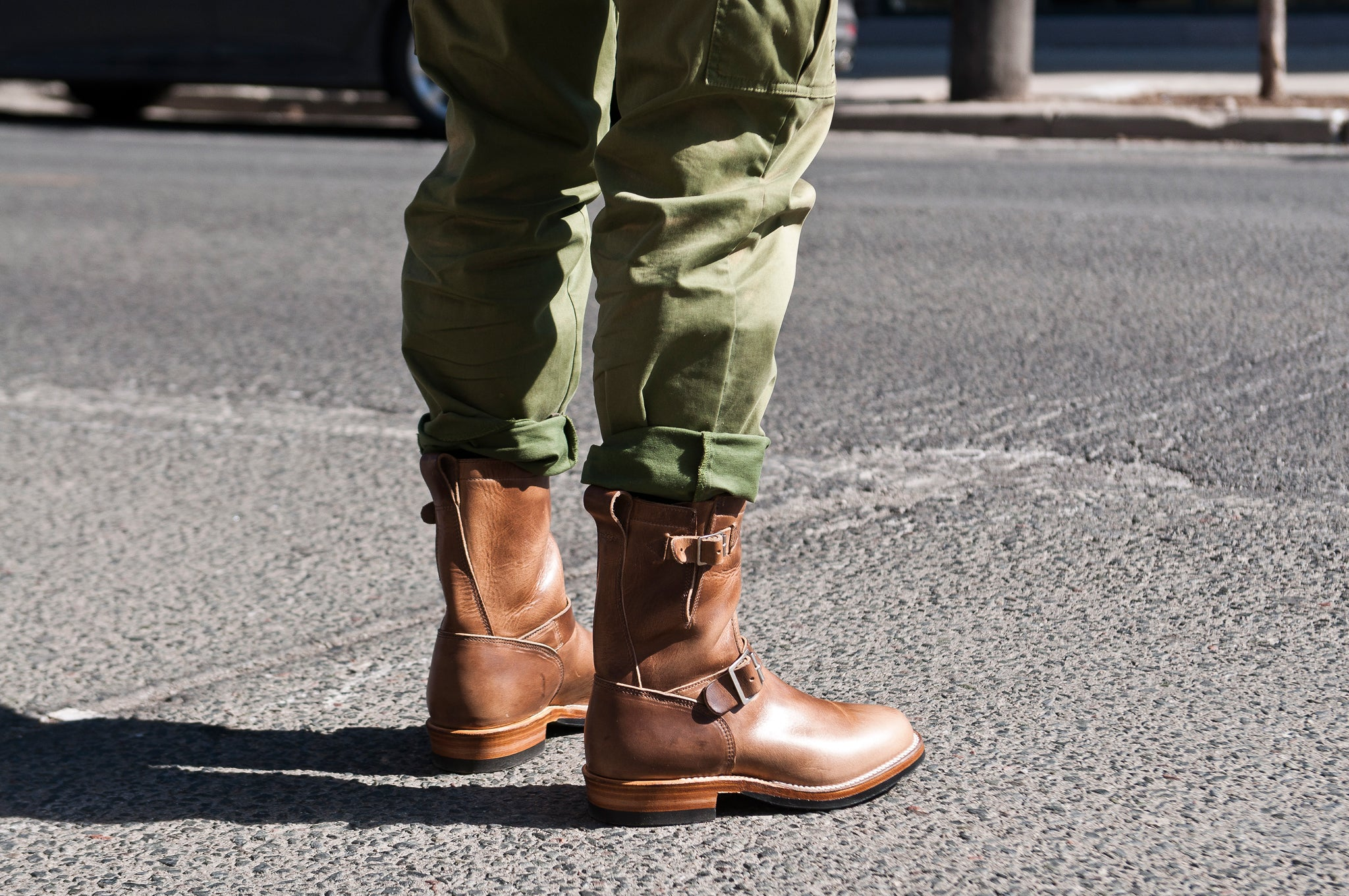 Viberg Natural Chromexcel Engineer Boot at shoplostfound 6