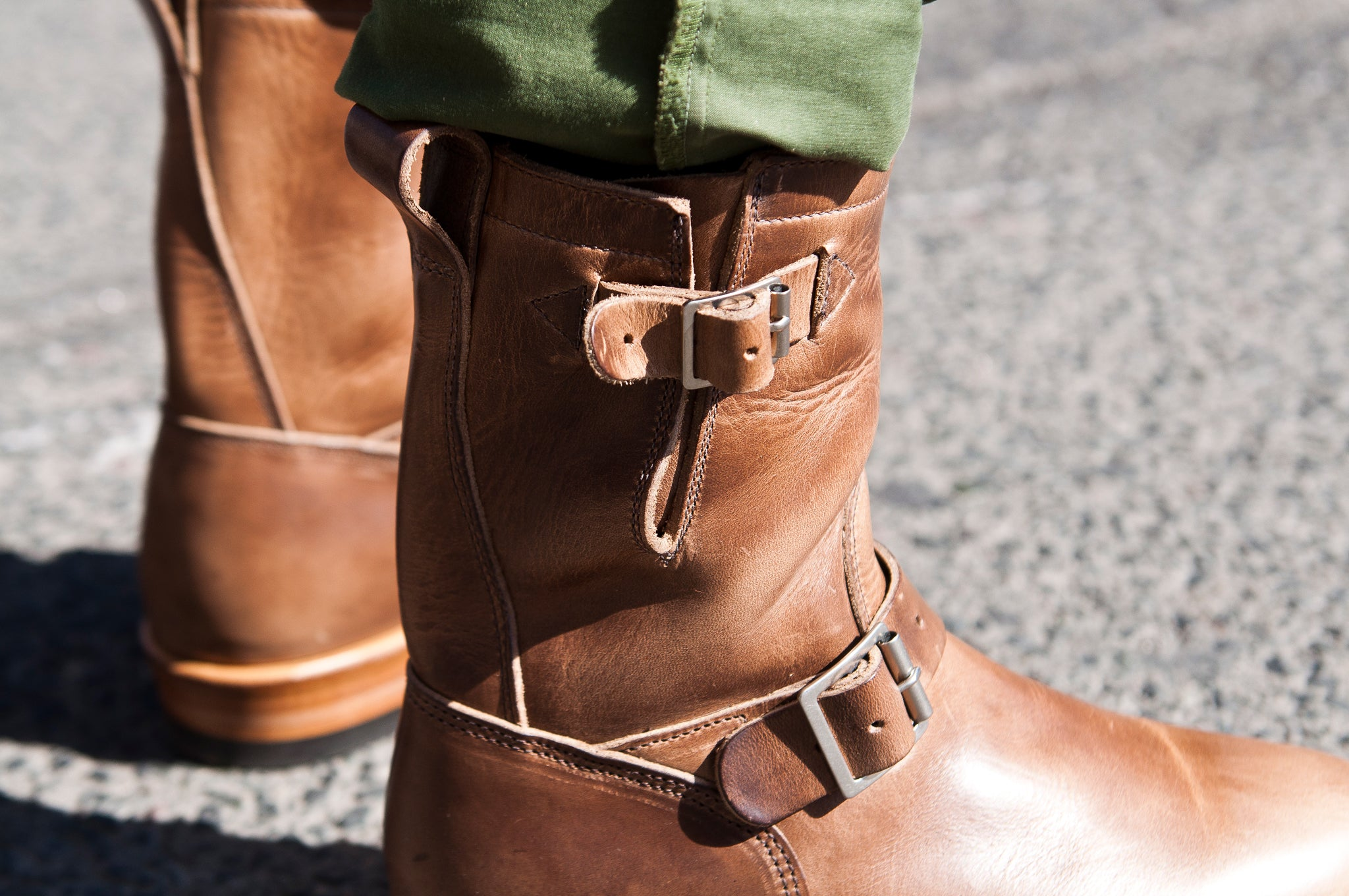 Viberg Natural Chromexcel Engineer Boot at shoplostfound 7