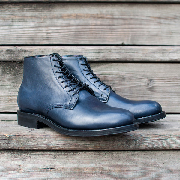 Viberg Navy Horsehide Derby Boot at shoplostfound Preview