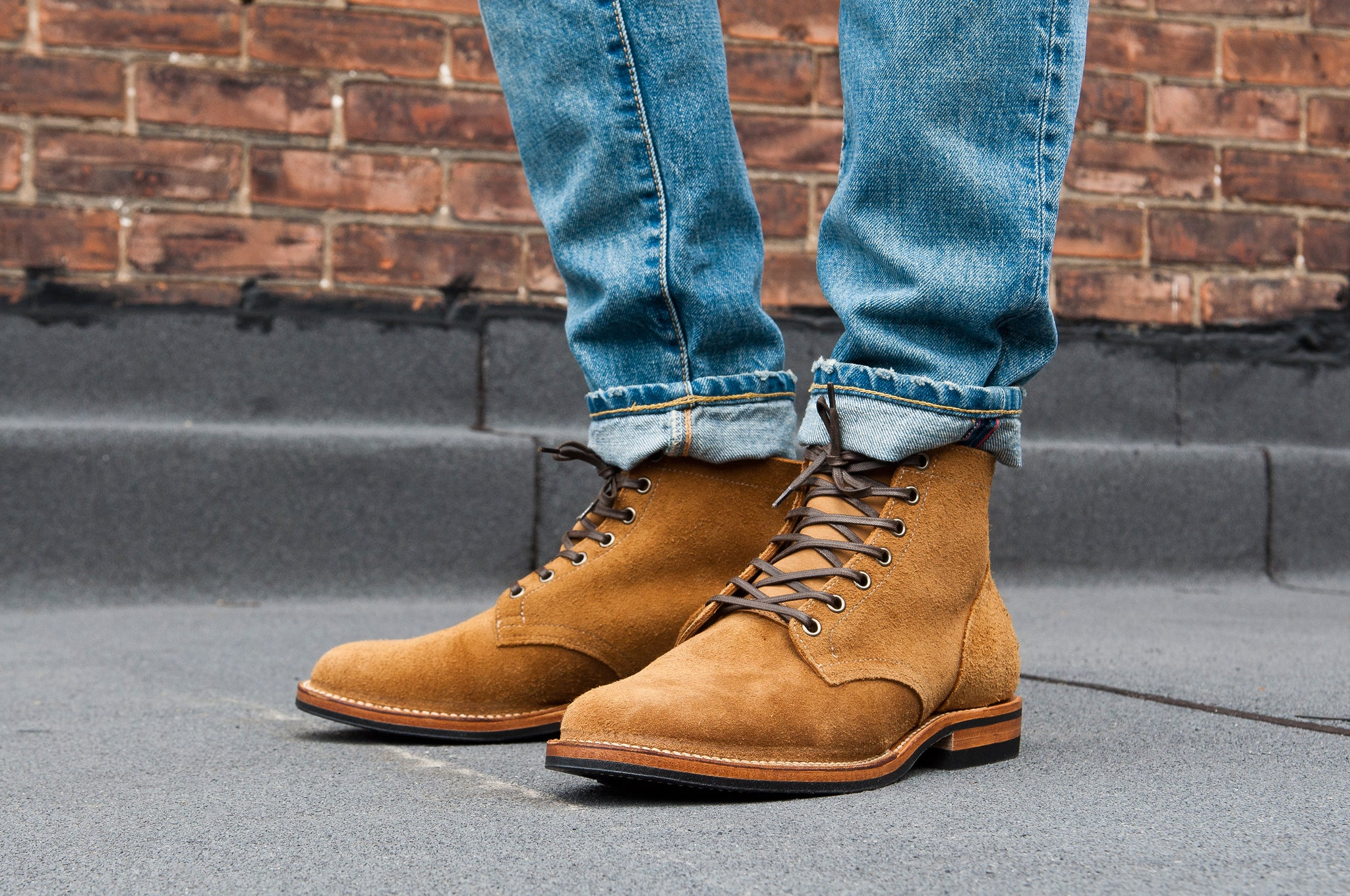Viberg Sand Nubuck Roughout Service Boot at shoplostfound 1