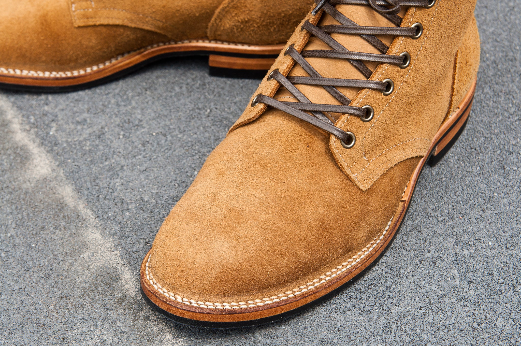 Viberg Sand Nubuck Roughout Service Boot at shoplostfound 2